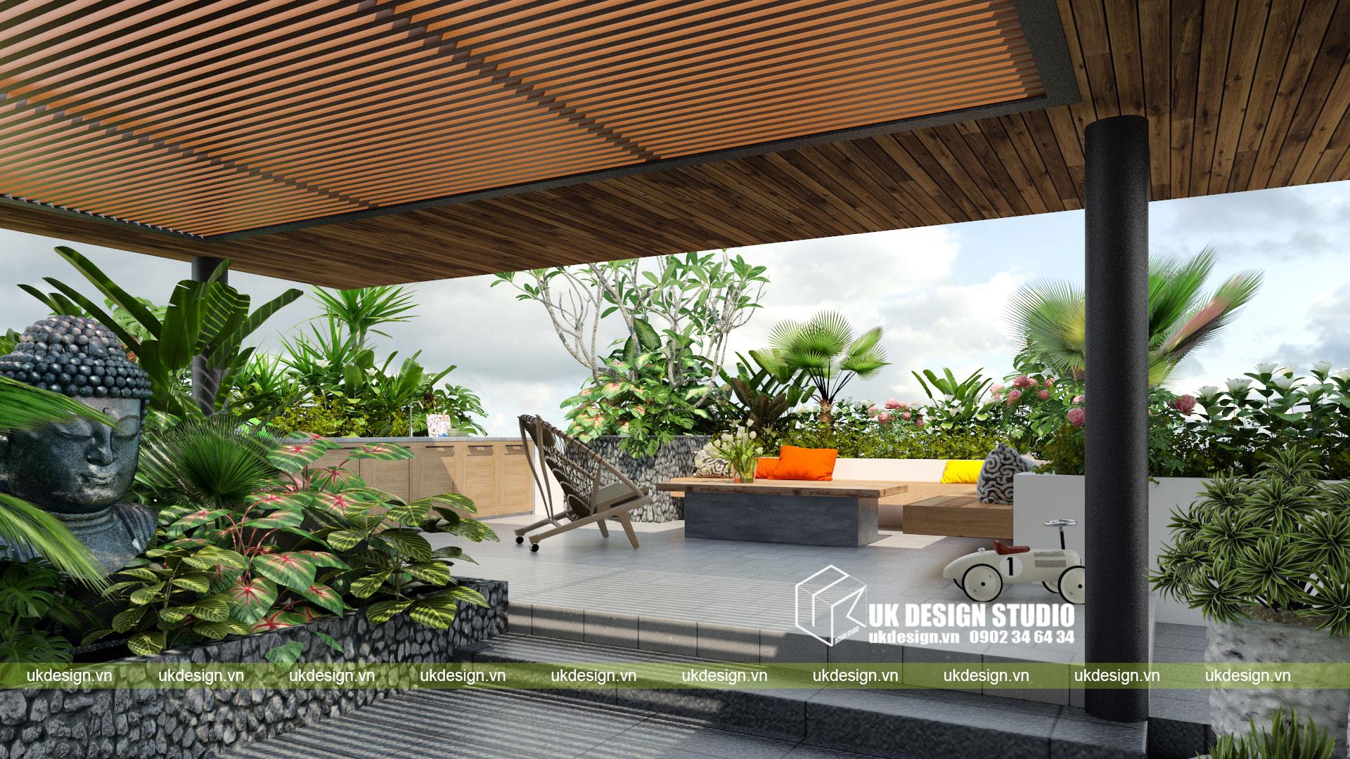 Thiết kế biệt thự vườn có hồ bơi ở Sài Gòn - 16