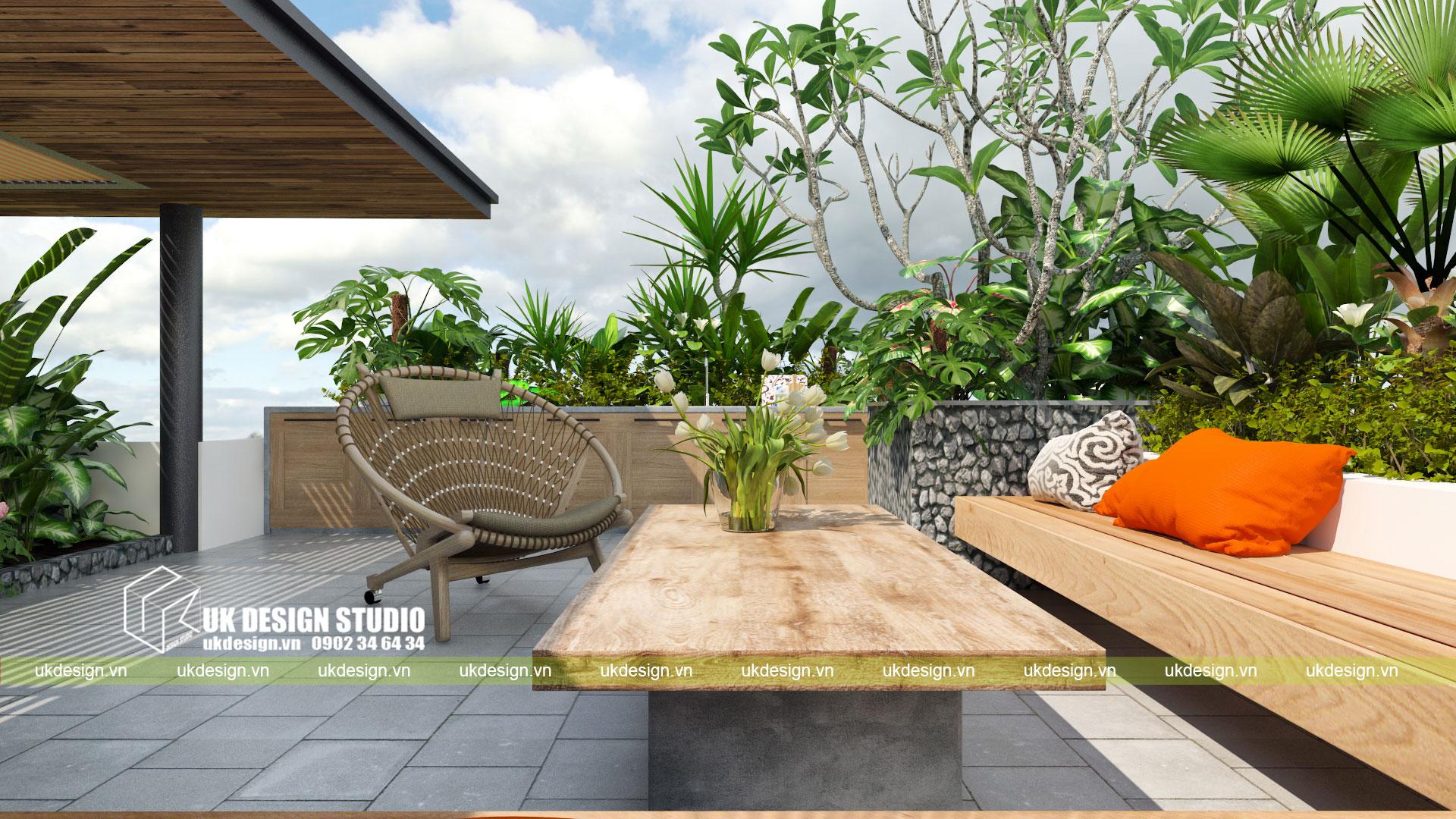 Thiết kế biệt thự vườn có hồ bơi ở Sài Gòn - 17