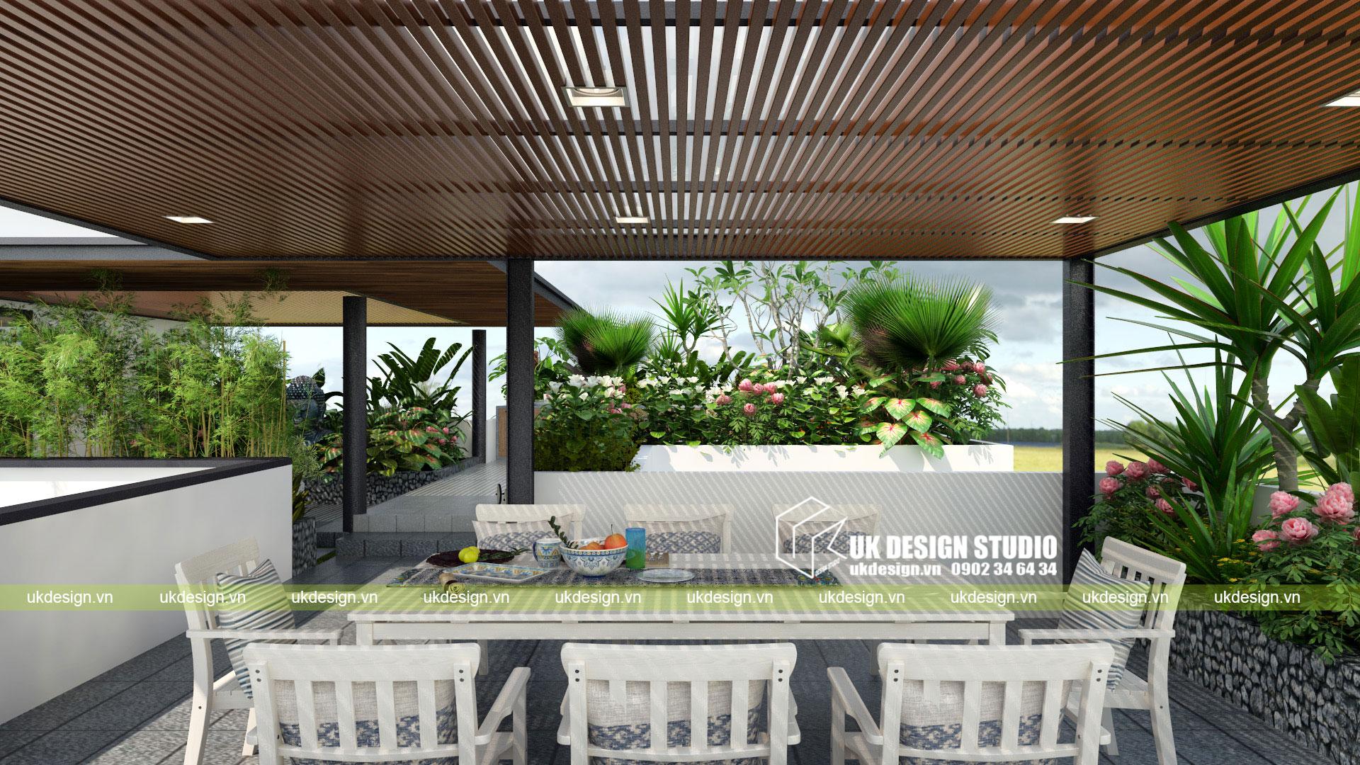 Thiết kế biệt thự vườn có hồ bơi ở Sài Gòn - 12