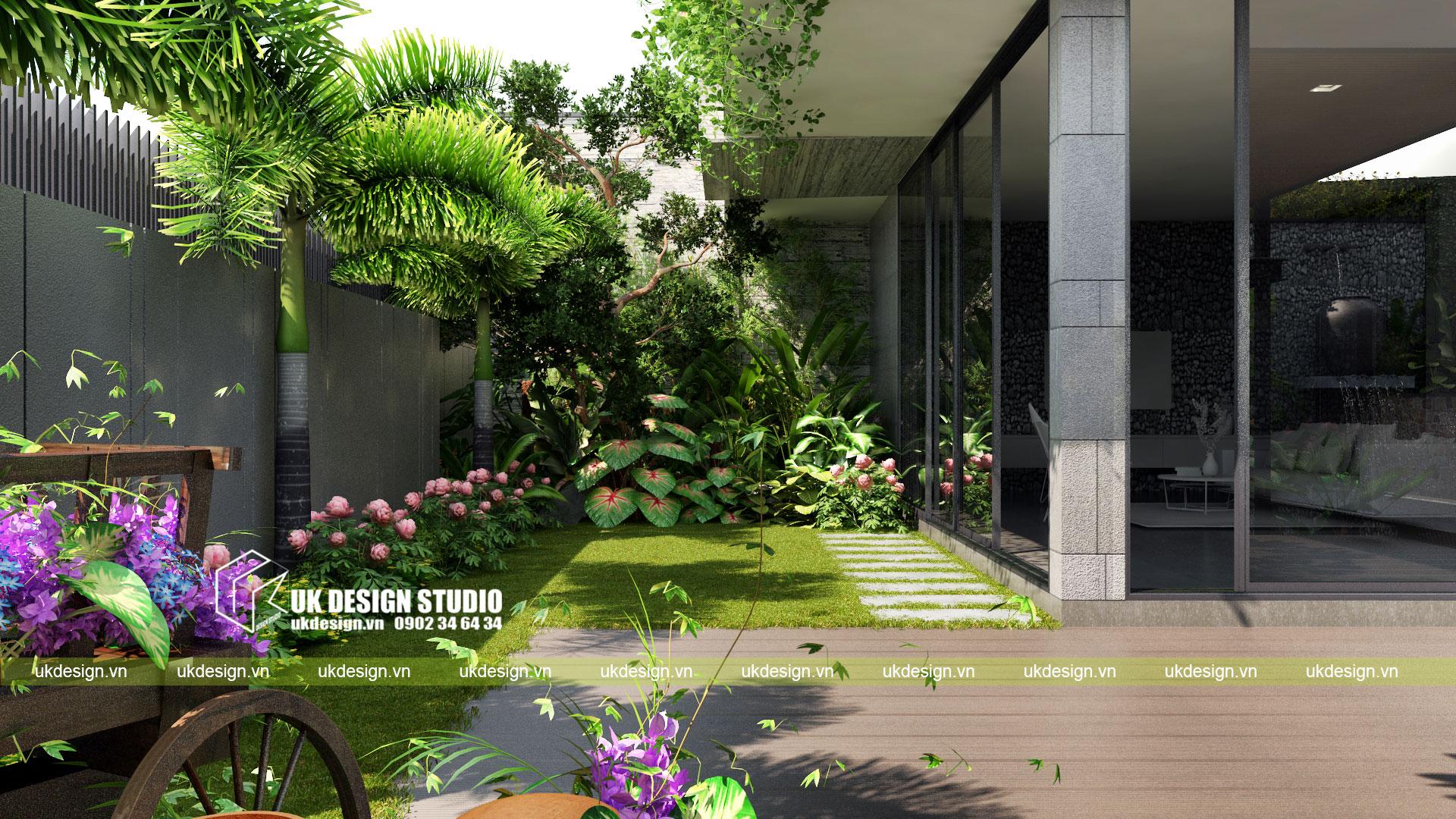 Thiết kế biệt thự vườn có hồ bơi ở Sài Gòn - 5