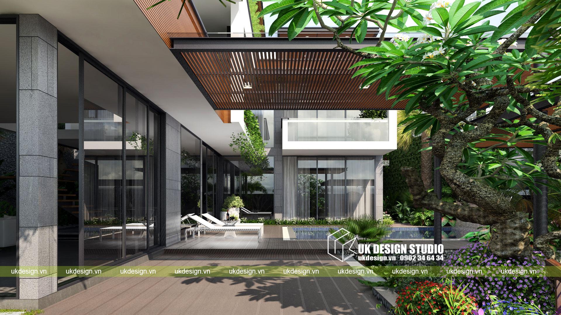 Thiết kế biệt thự vườn có hồ bơi ở Sài Gòn - 8