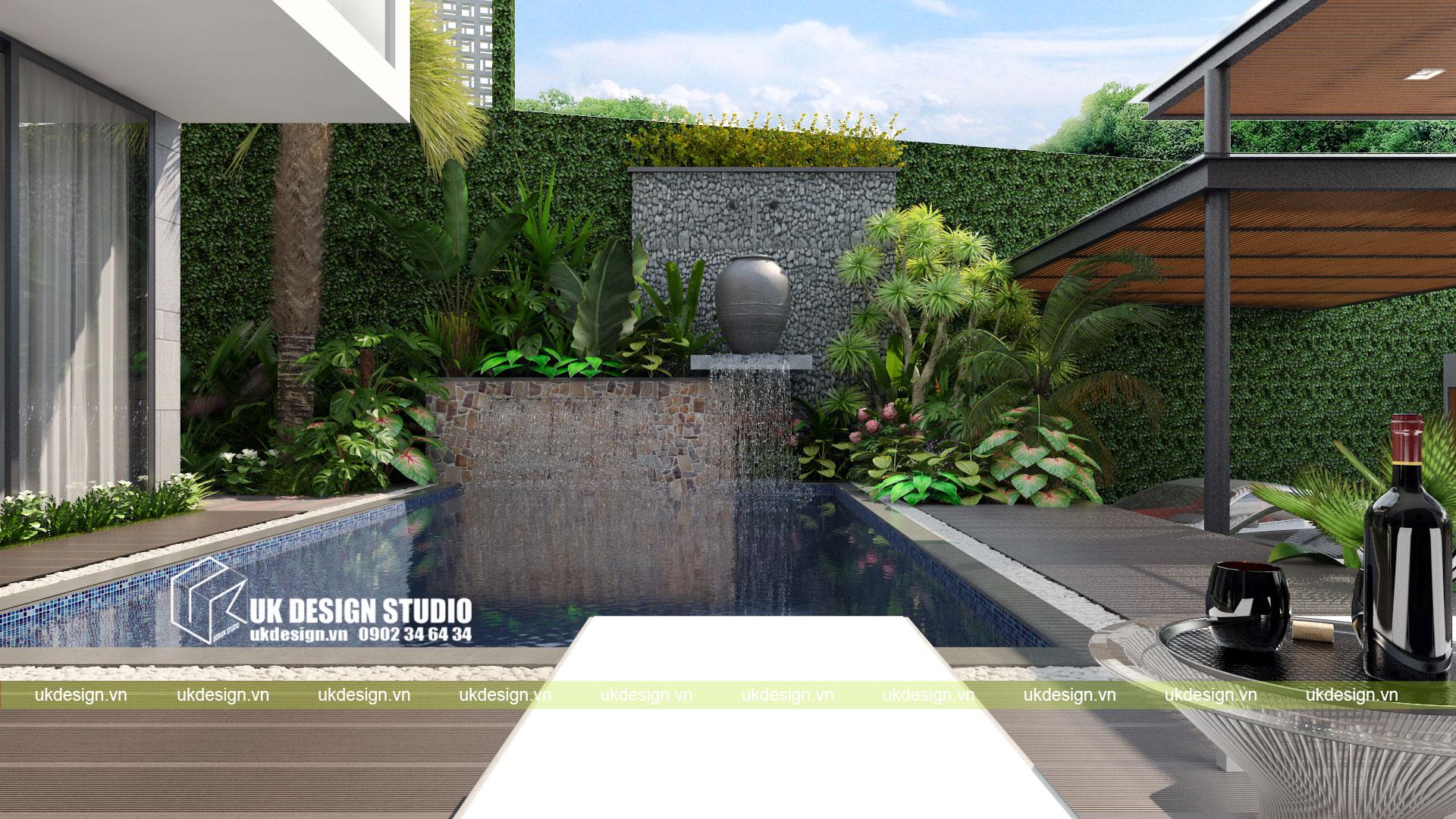 Thiết kế biệt thự vườn có hồ bơi ở Sài Gòn - 9