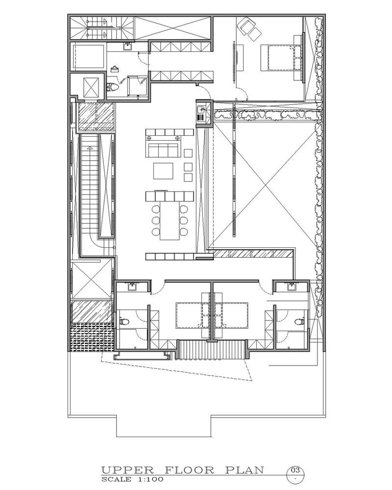 Bố trí mặt băng tâng 3 - Ben House