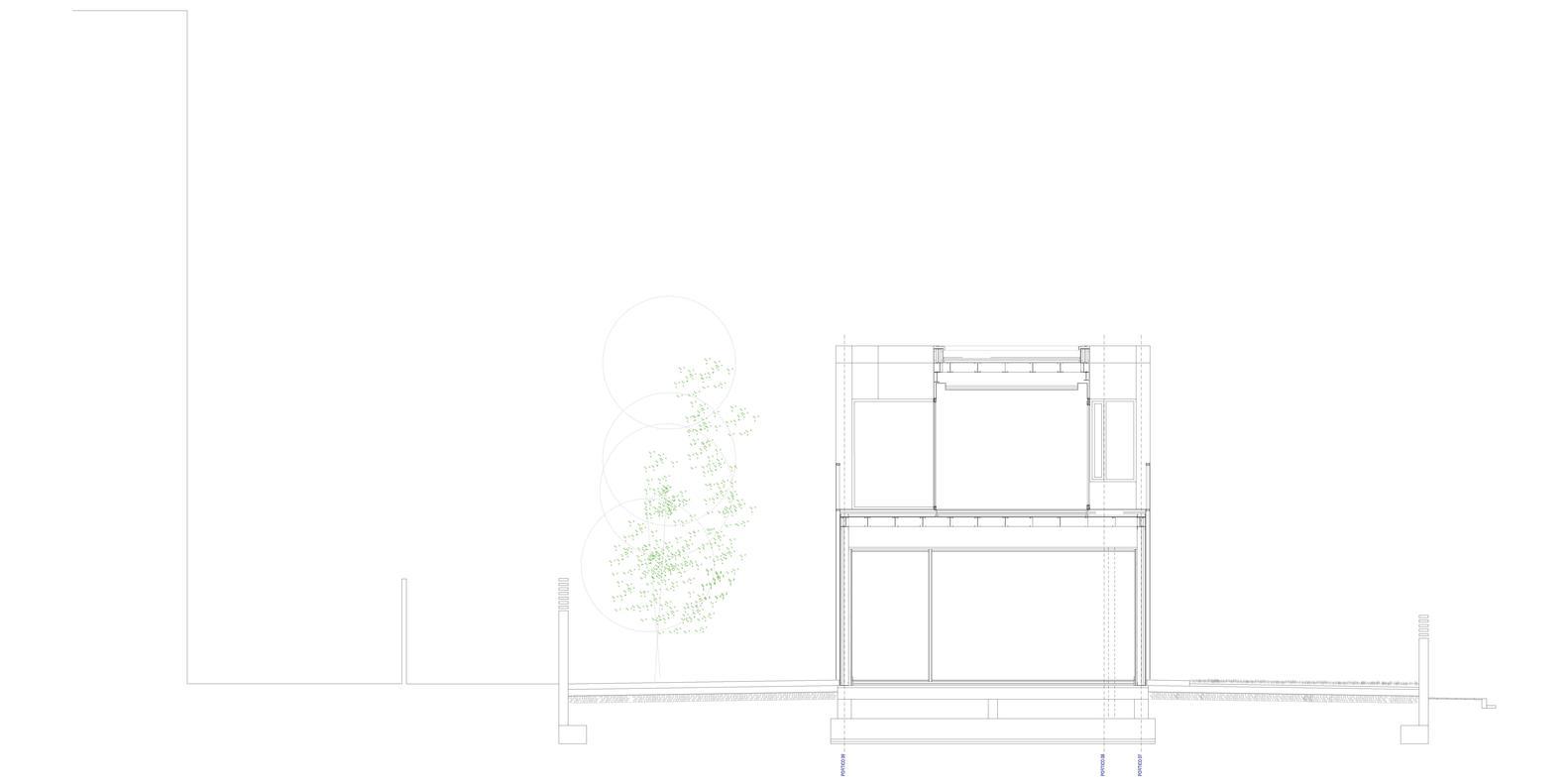 Bố trí mặt bằng - Castelldefels House - mặt cắt - 3