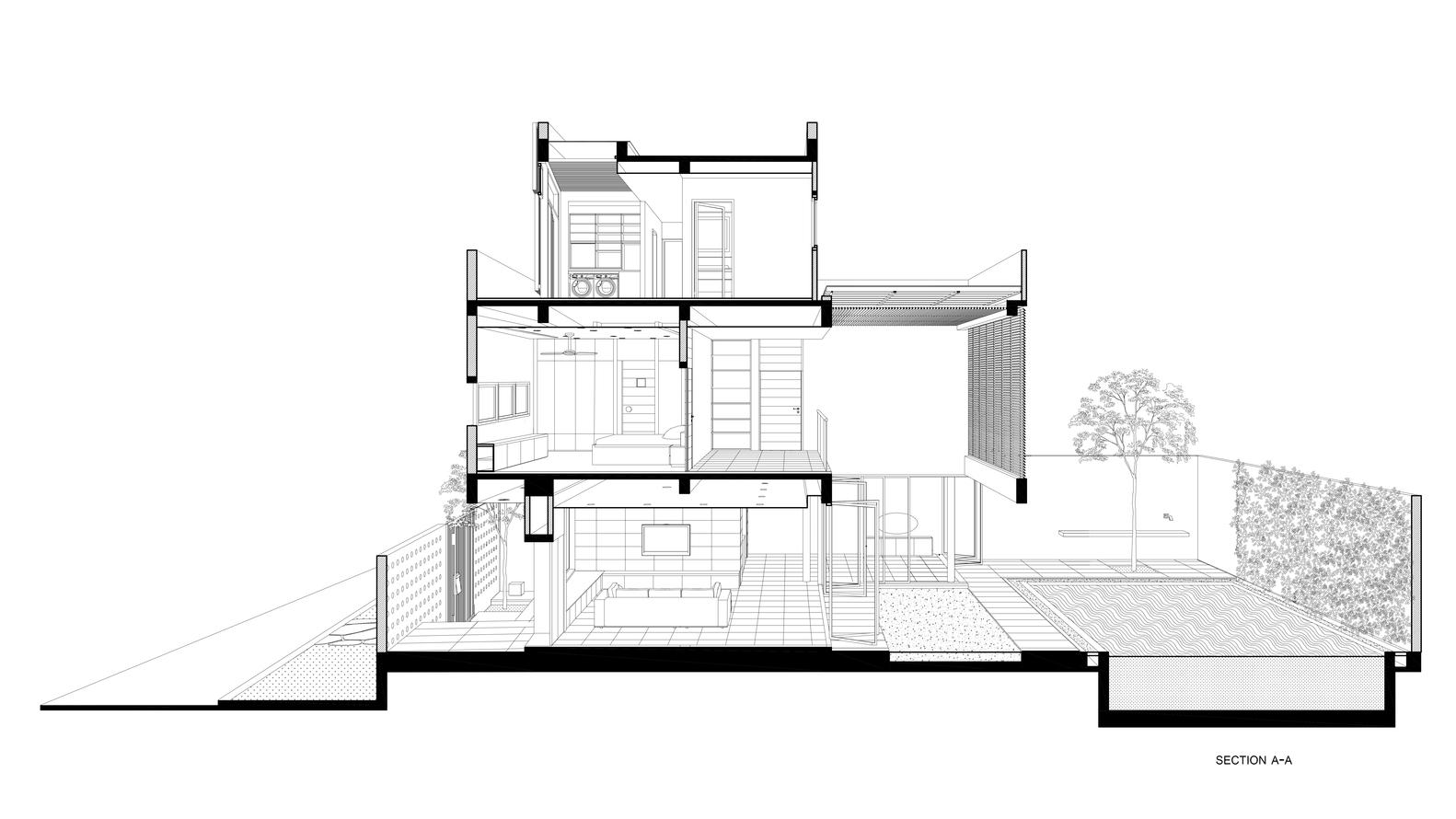 Bố trí mặt bằng - Biệt thự eden villa - 1