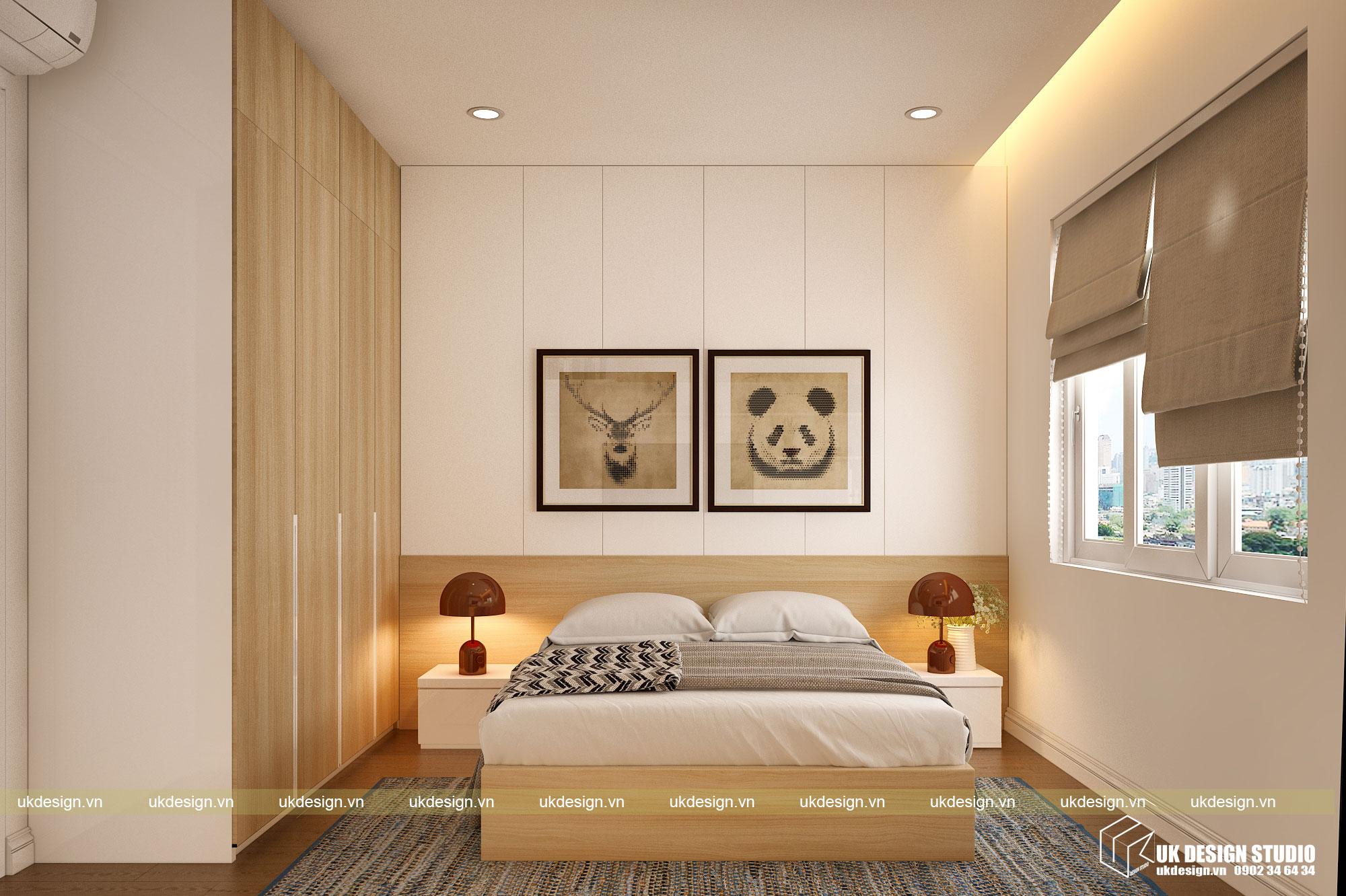 Thiết kế nội thất căn hộ 60m2 Hưng Lộc Phát 13