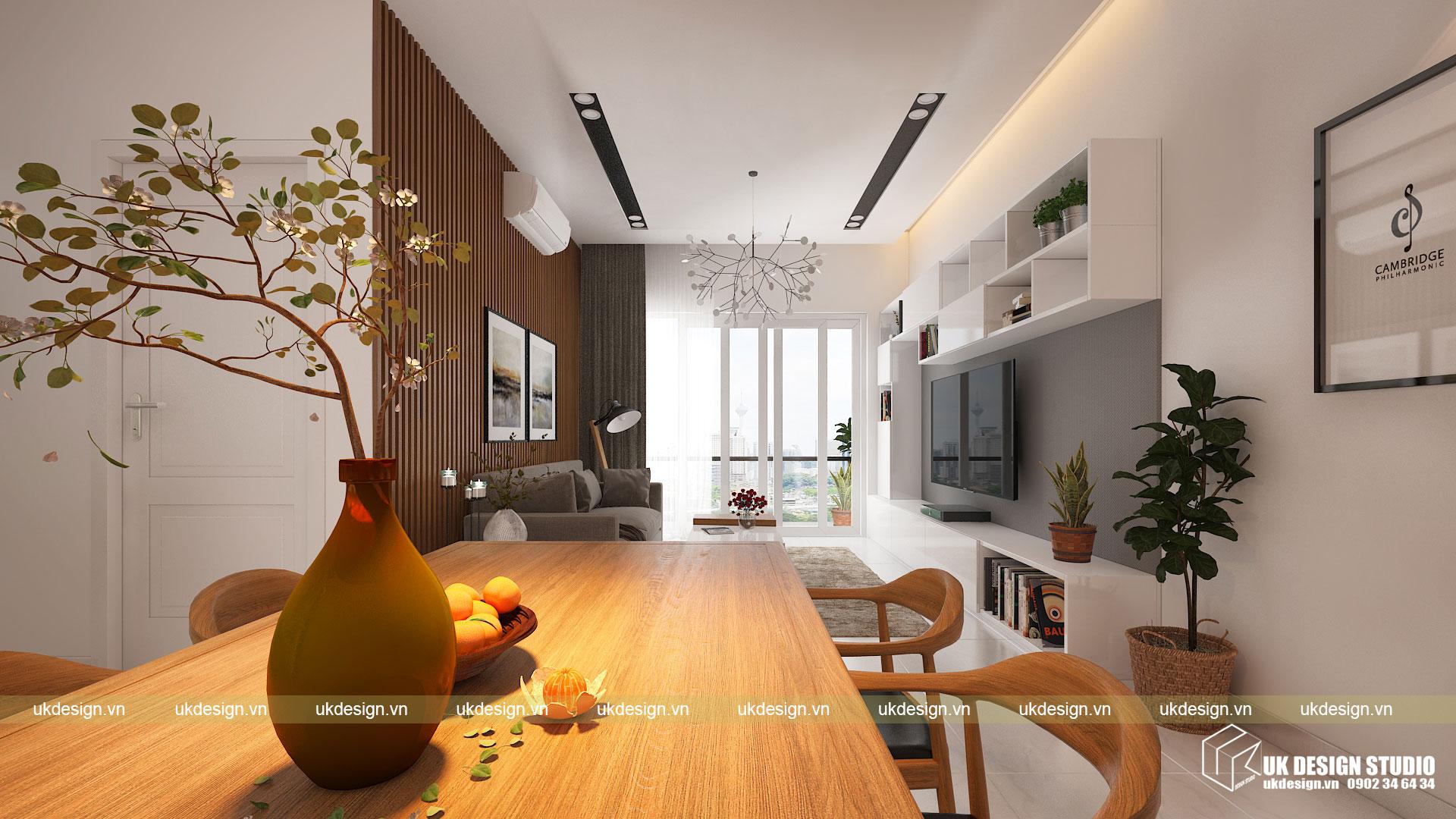 Thiết kế nội thất căn hộ 60m2 Hưng Lộc Phát 2
