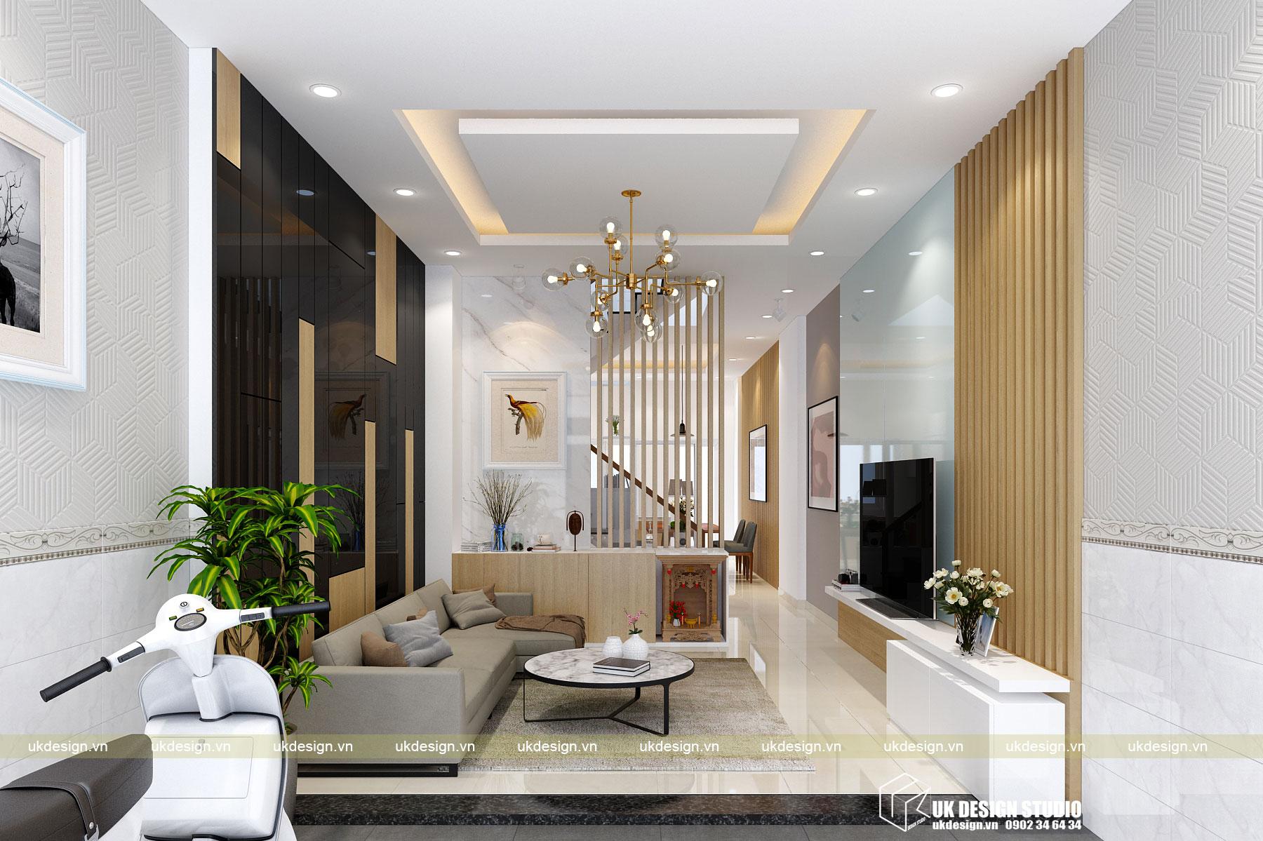 Thiết kế nội thất nhà phố 4m 1