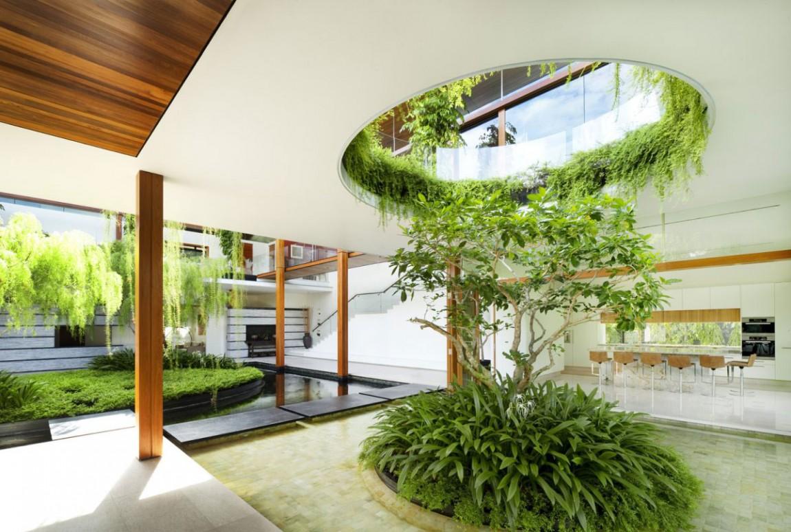 nha dep nuoc ngoai The Willow House 07 - The Willow House – một ngồi nhà có linh hồn với hơi thở từ những luồng gió tự nhiên