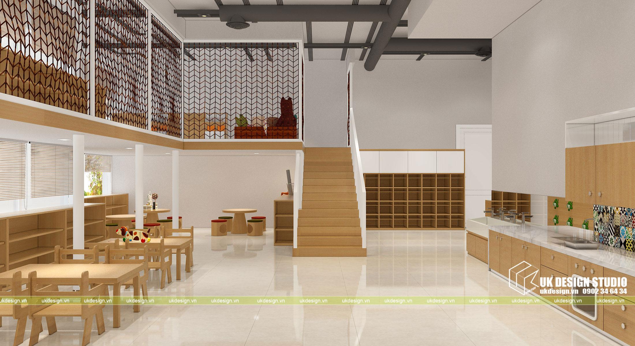 Thiết kế nội thất nhà trẻ 3