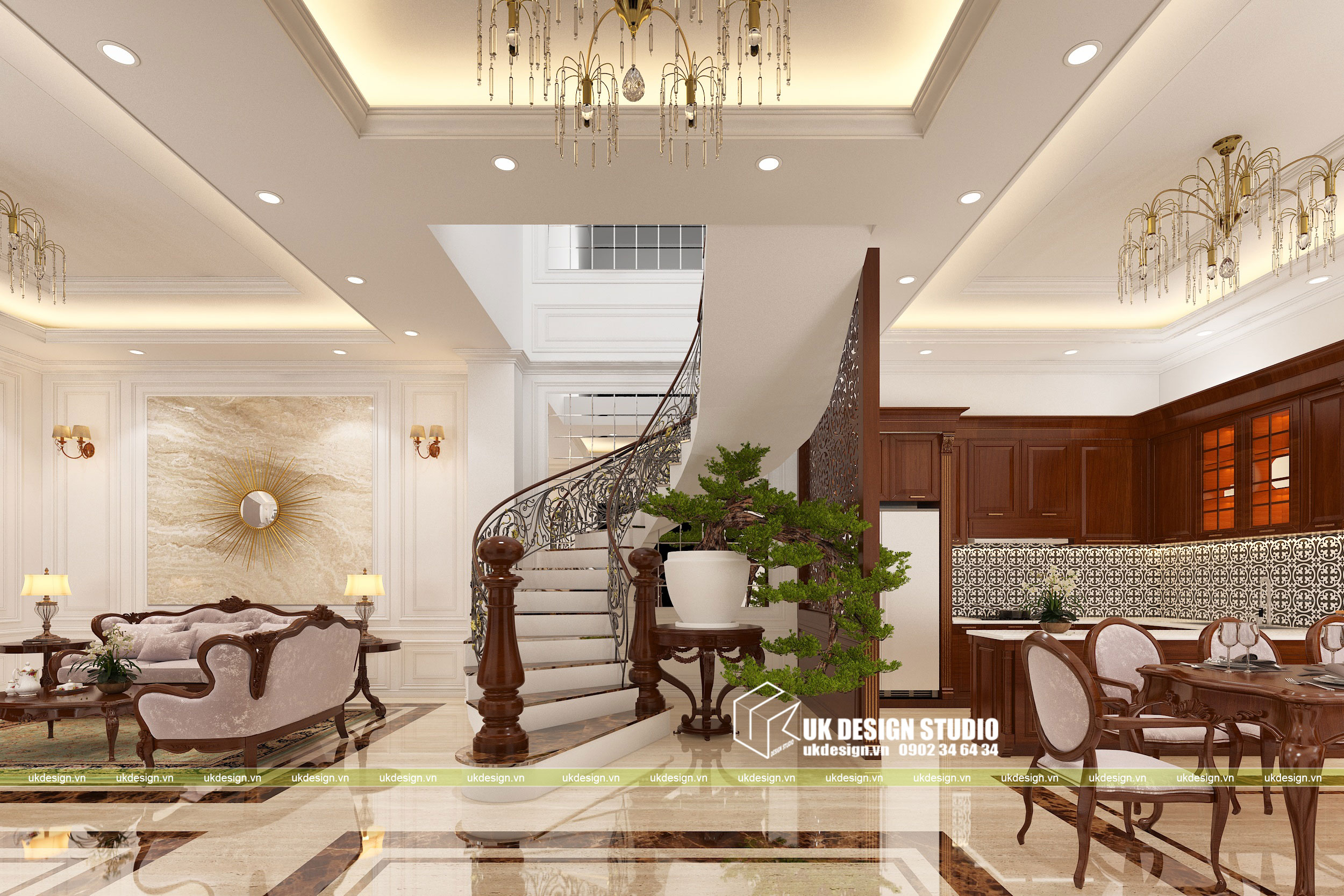 Thiết kế nội thất biệt thự cổ điển 2