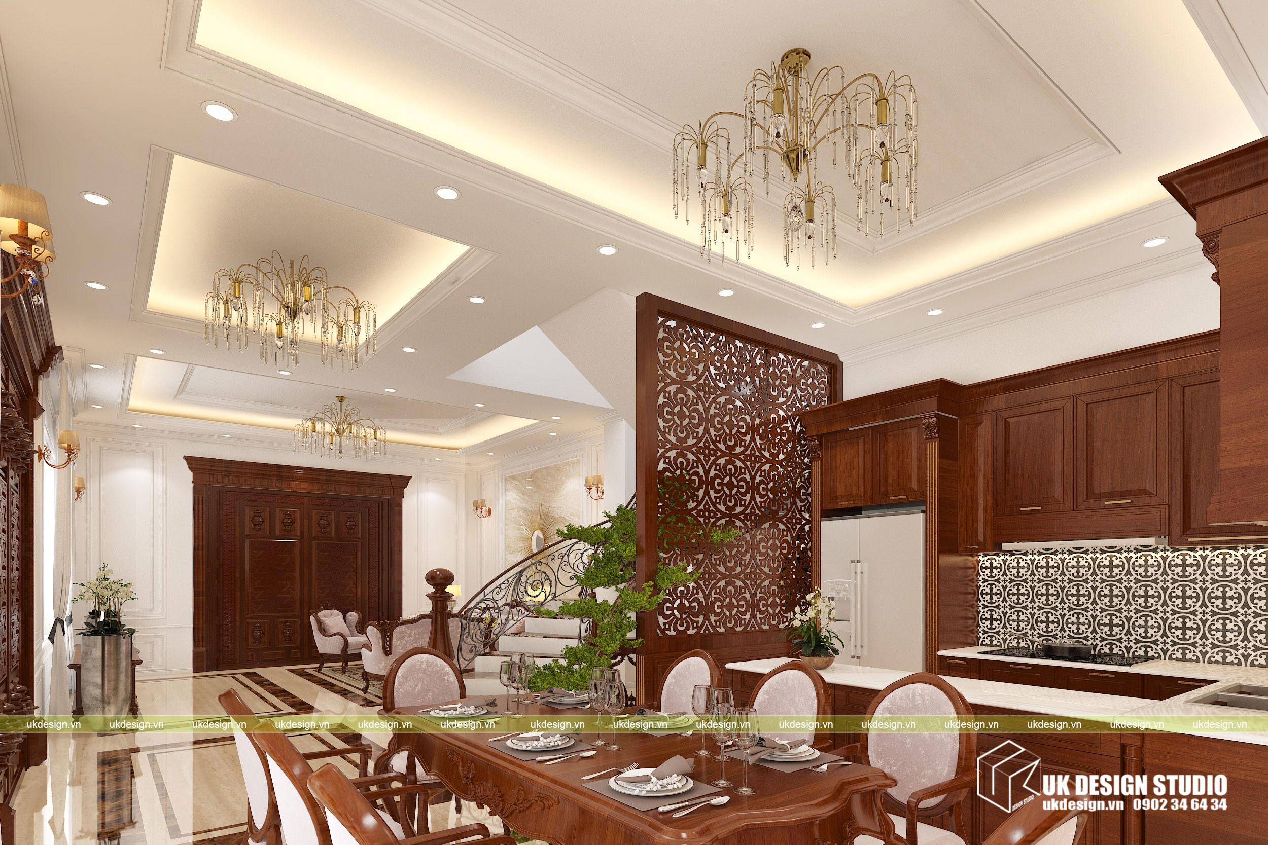 Thiết kế nội thất biệt thự cổ điển 3