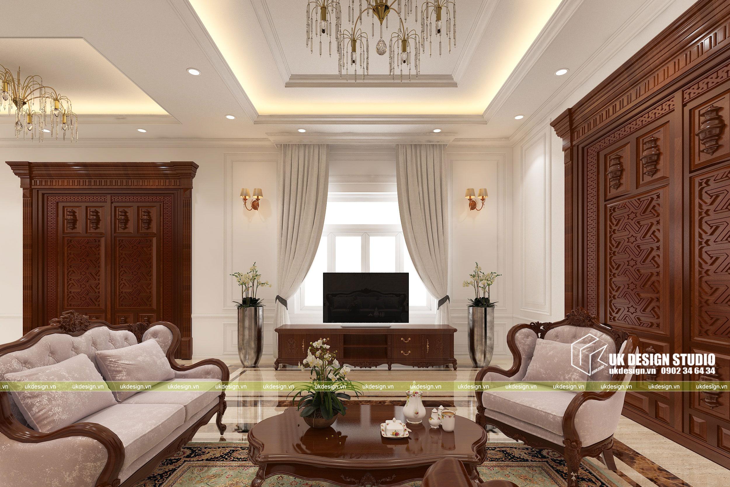 Thiết kế nội thất biệt thự cổ điển 6