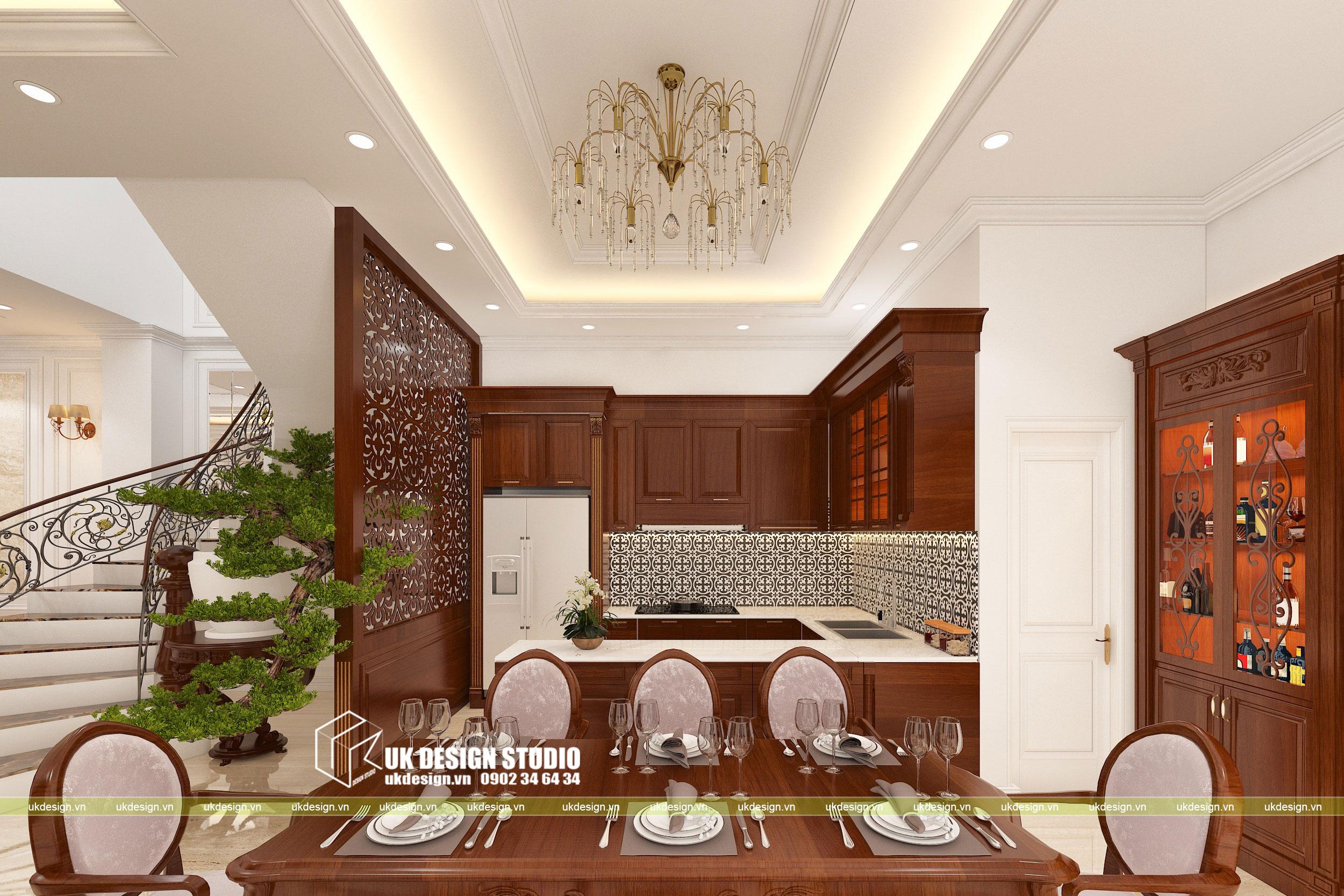 Thiết kế nội thất biệt thự cổ điển 8