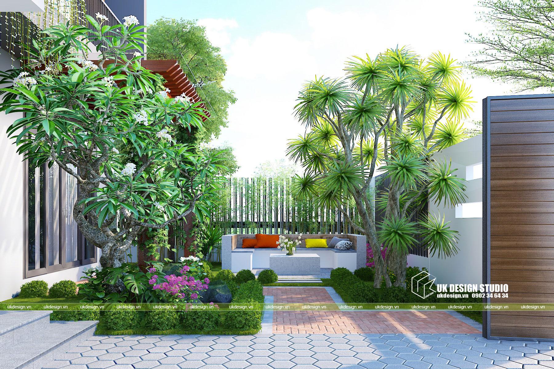 Biệt thự hiện đại sân vườn 500m2 9