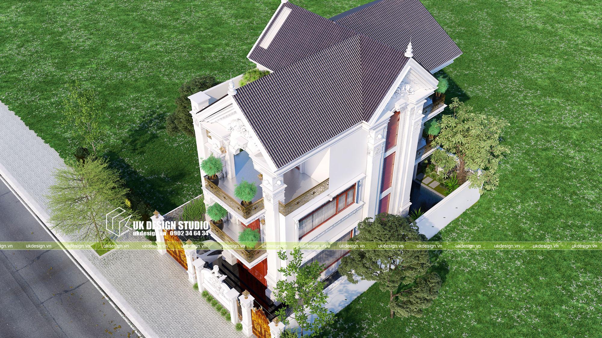 Thiết kế biệt thự phong cách cổ điển sân vườn 4