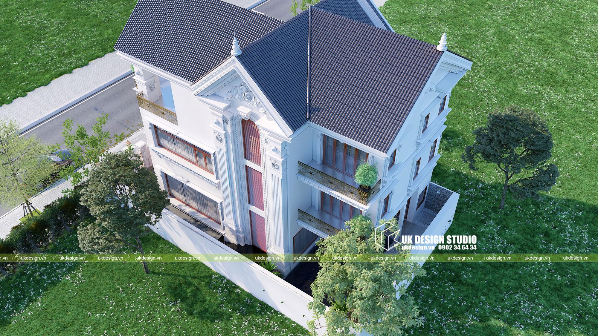 Thiết kế biệt thự phong cách cổ điển sân vườn 6