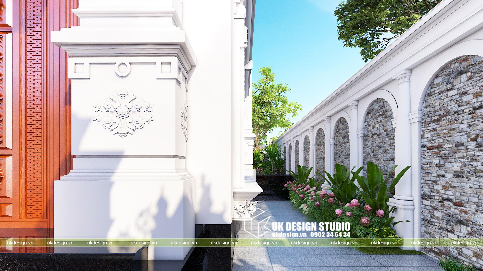 Thiết kế biệt thự phong cách cổ điển sân vườn 9