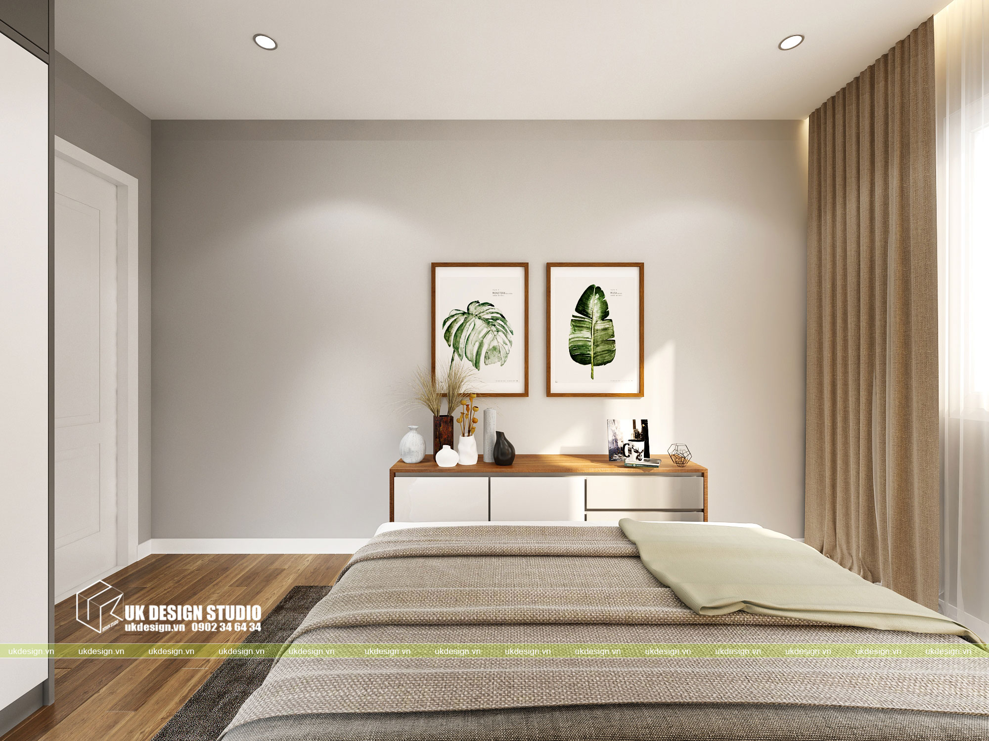 Thiết kế nội thất căn hộ 2 phòng ngủ 7