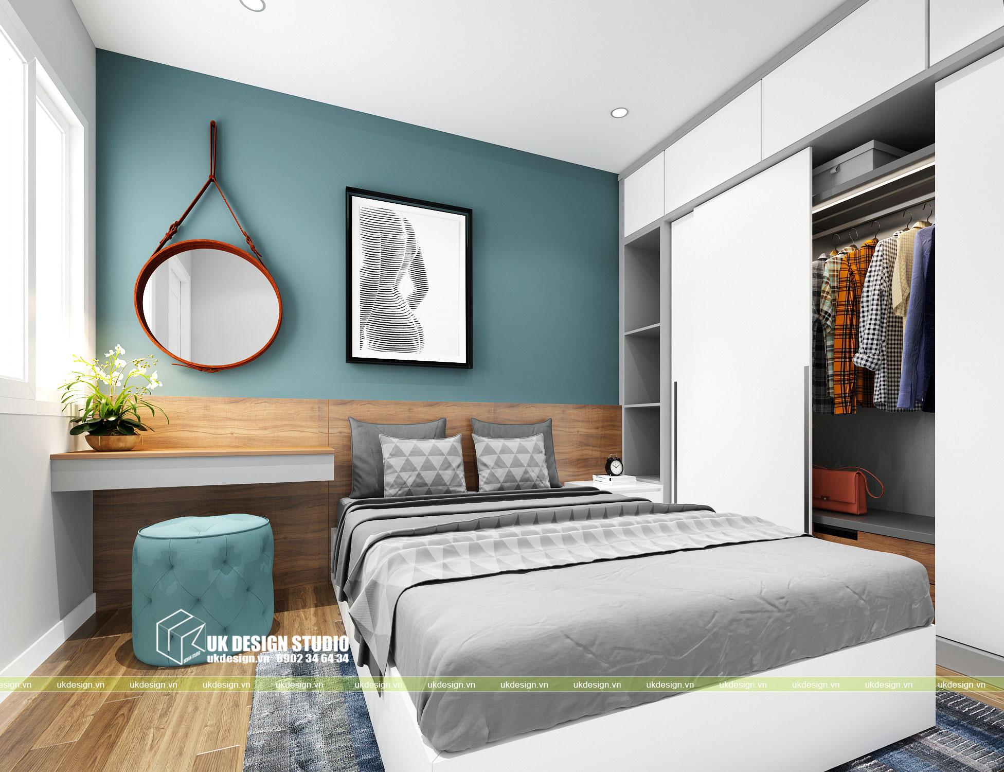 Thiết kế nội thất căn hộ 2 phòng ngủ 8
