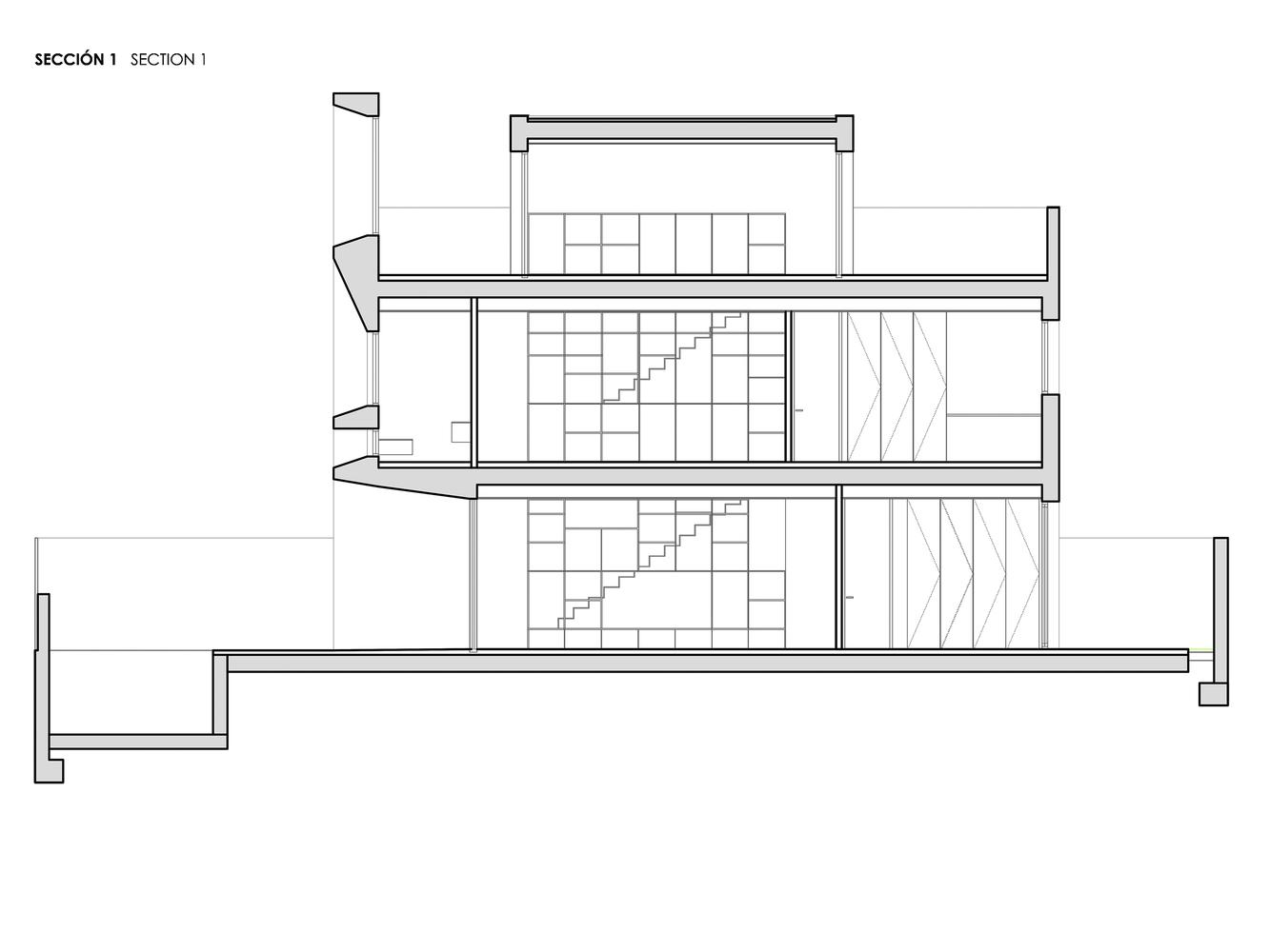 Mặt bằng biệt thự 300m2 - Brise Soleil House 2