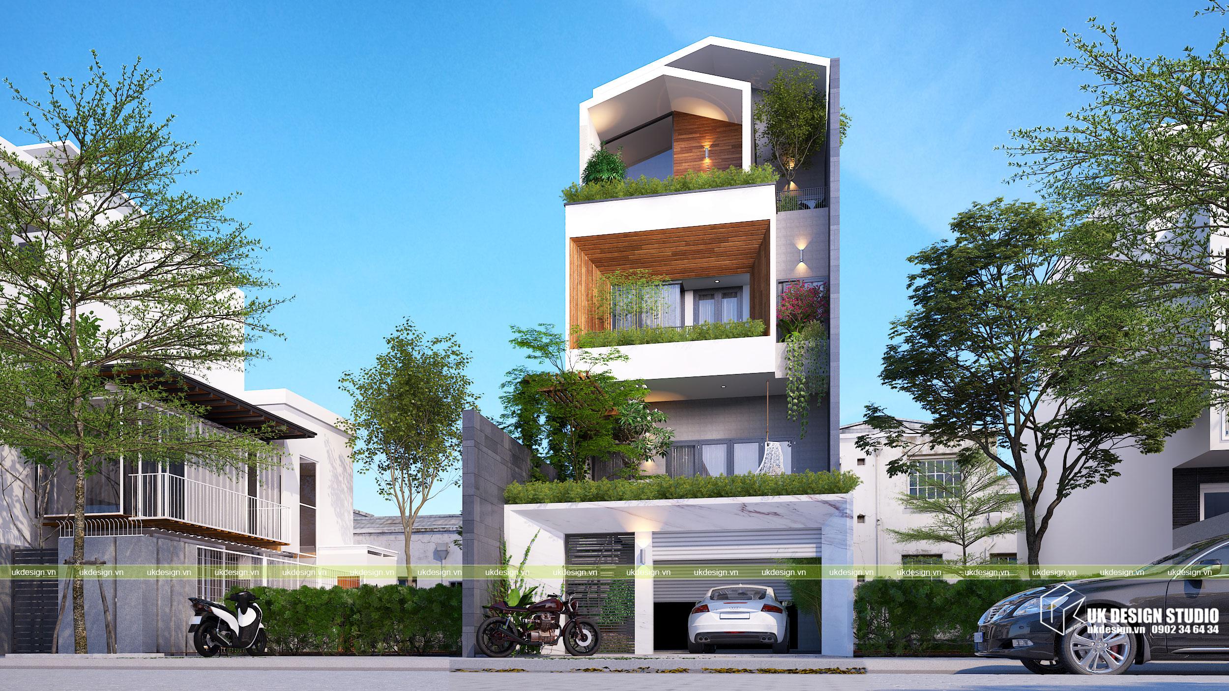 Thiết kế nhà phố hiện đại mặt tiền 7m 2