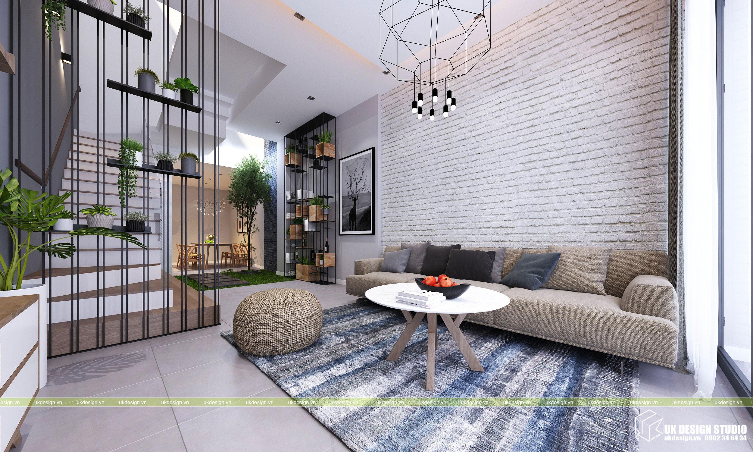 Thiết kế nội thất nhà phố 2 tầng 1
