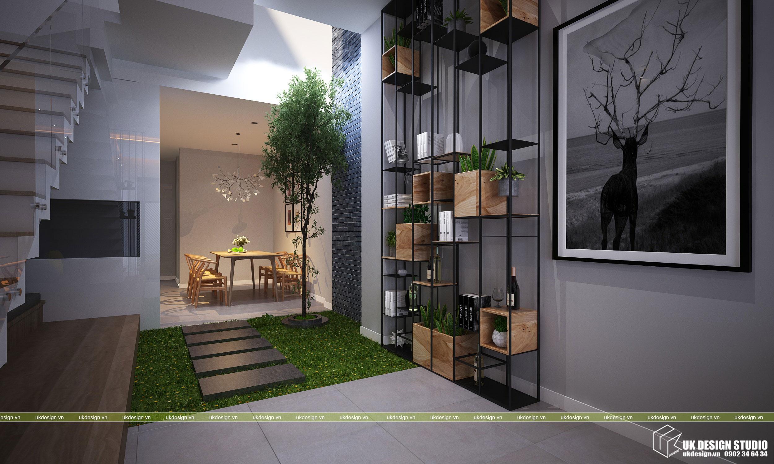Thiết kế nội thất nhà phố 2 tầng 2