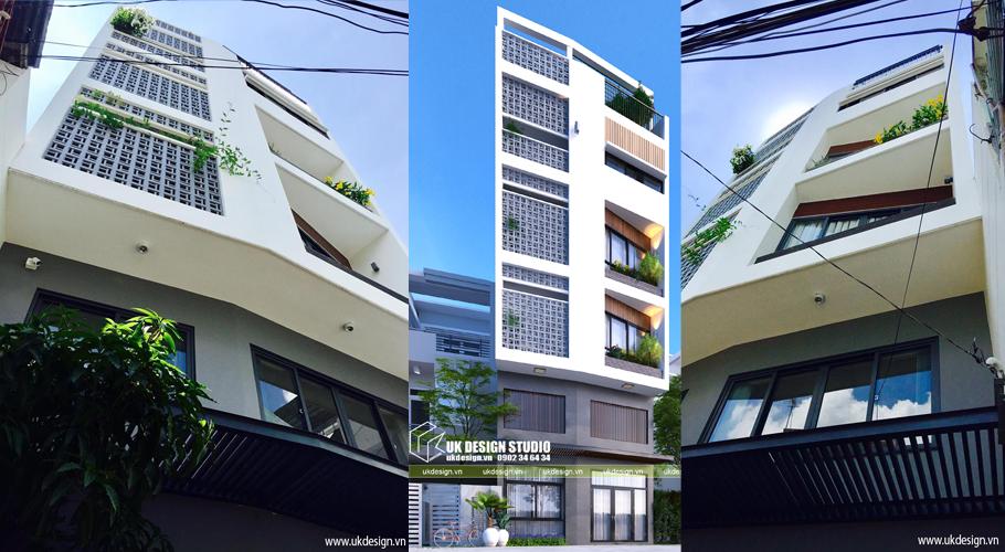 Công trình nhà phố diện tích nhỏ kết hợp văn phong kinh doanh