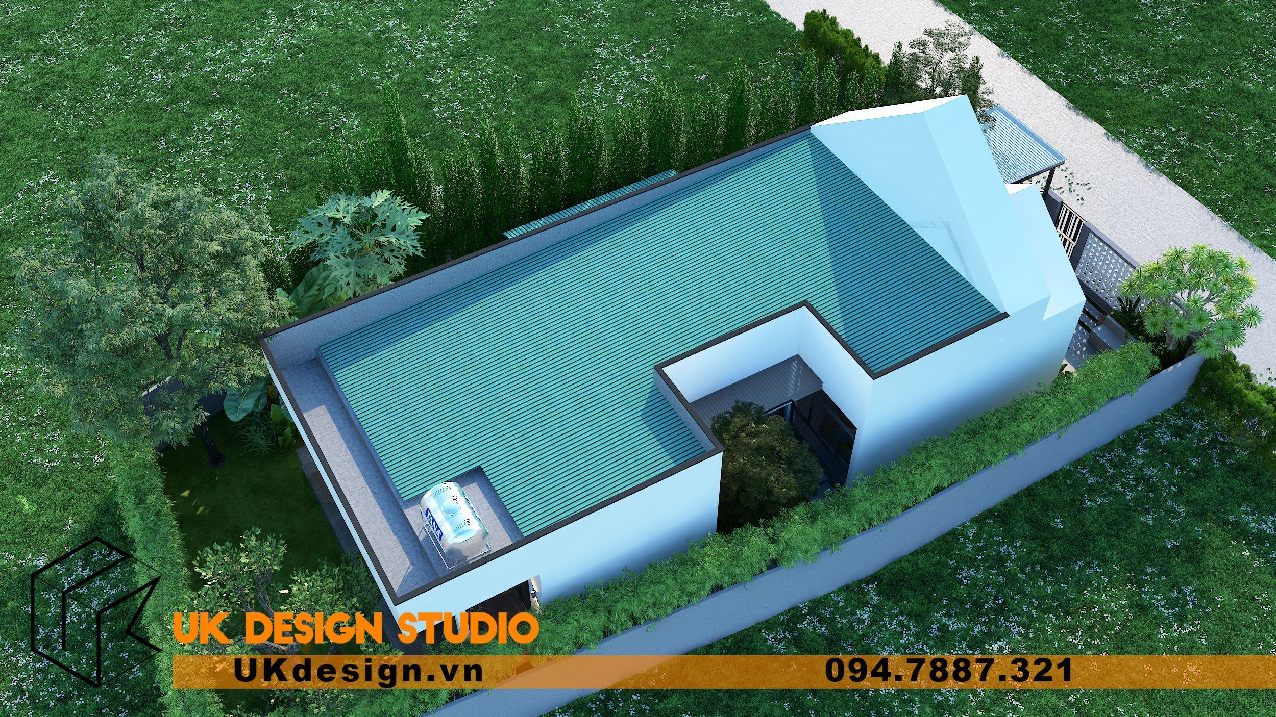 Thiết kế biệt thự 2 tầng phong cách hiện đại mái nhọn 18