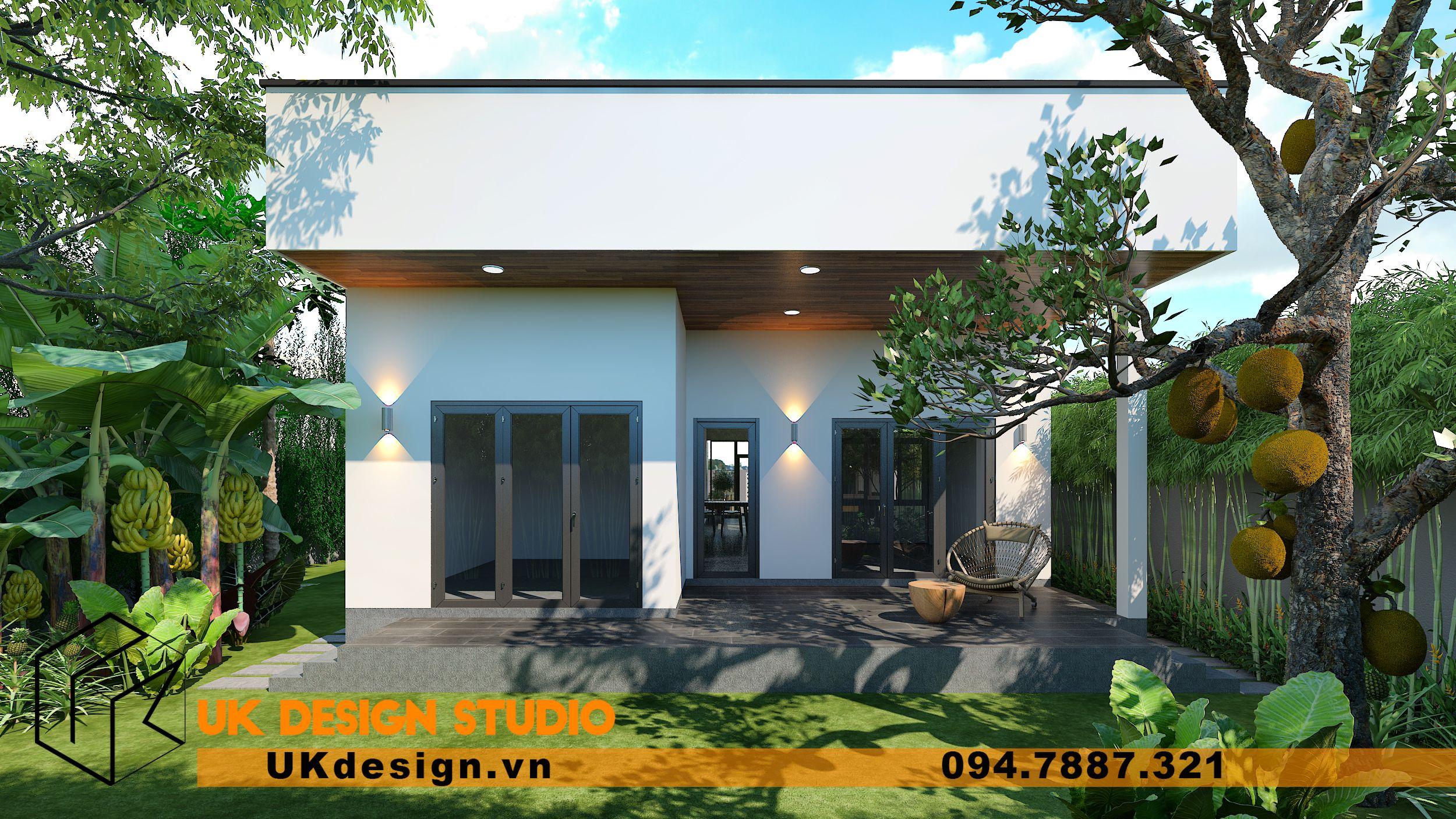 Thiết kế biệt thự 2 tầng phong cách hiện đại mái nhọn 13