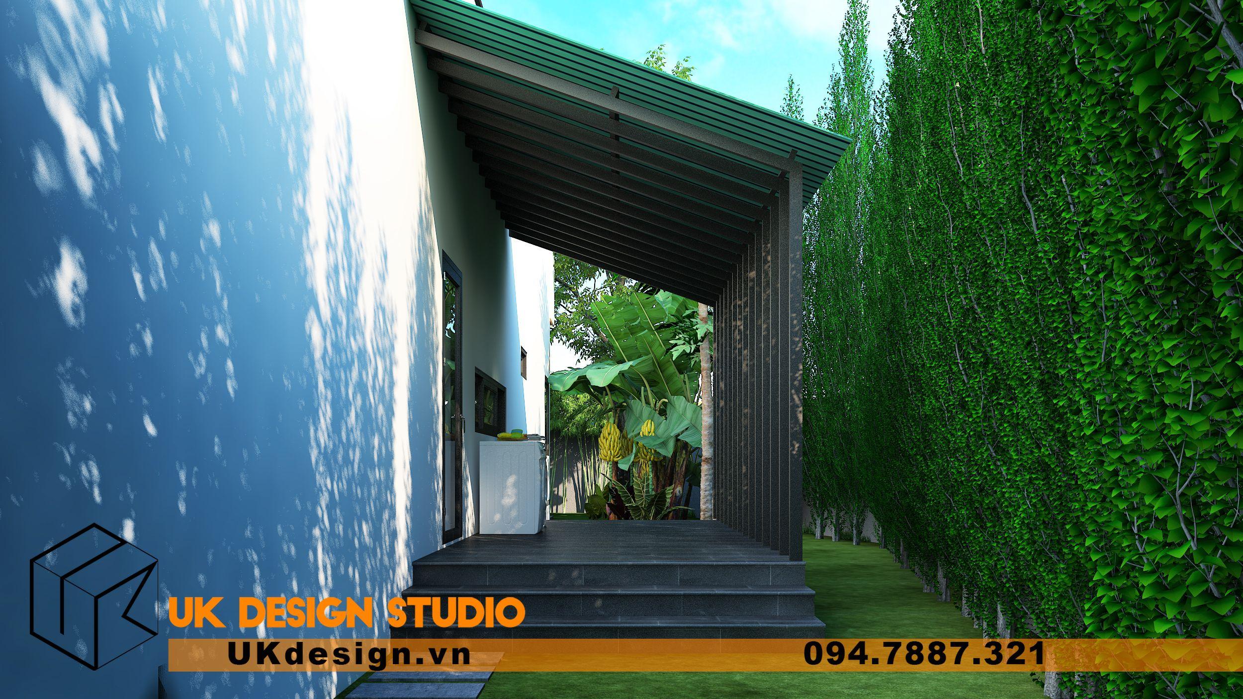 Thiết kế biệt thự 2 tầng phong cách hiện đại mái nhọn 12