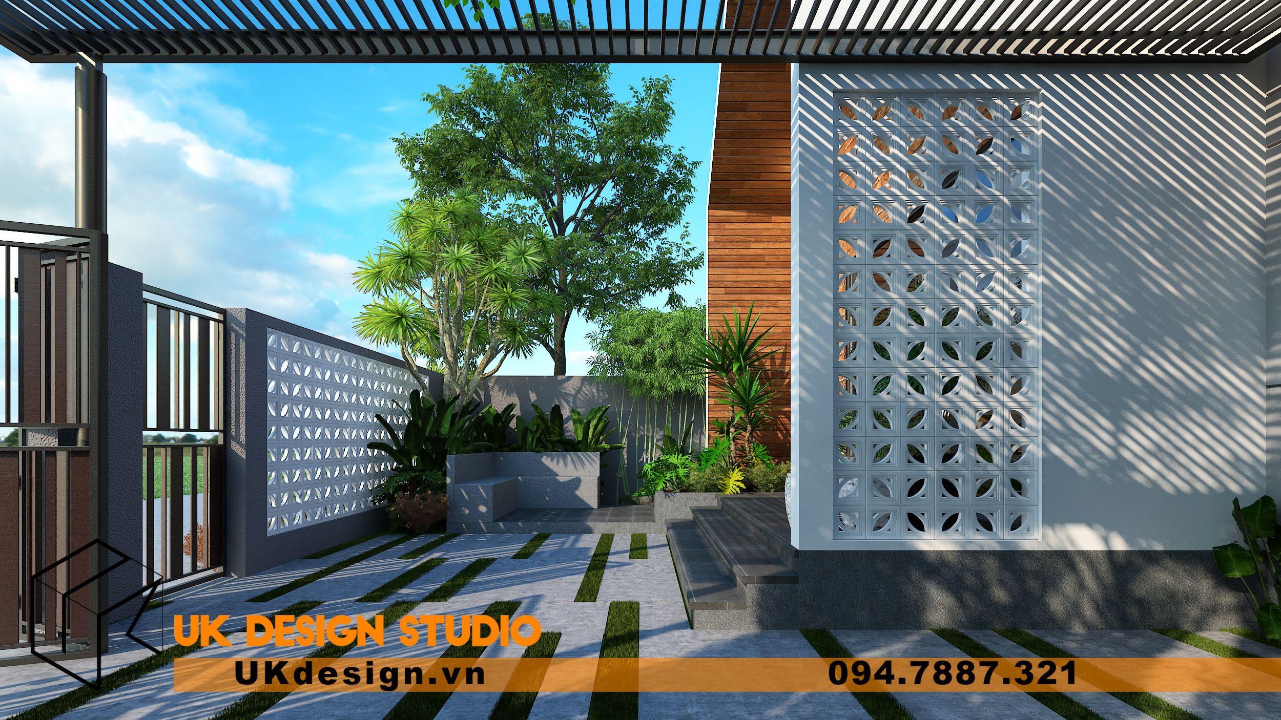 Thiết kế biệt thự 2 tầng phong cách hiện đại mái nhọn 11
