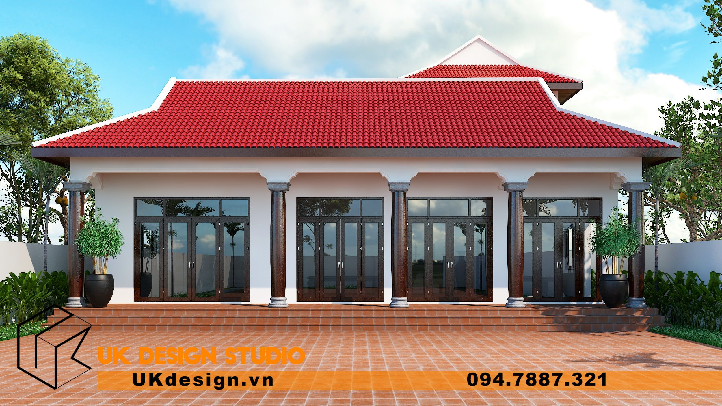 Thiết kế biệt thự kết hợp nhà thờ ở Bình Dương