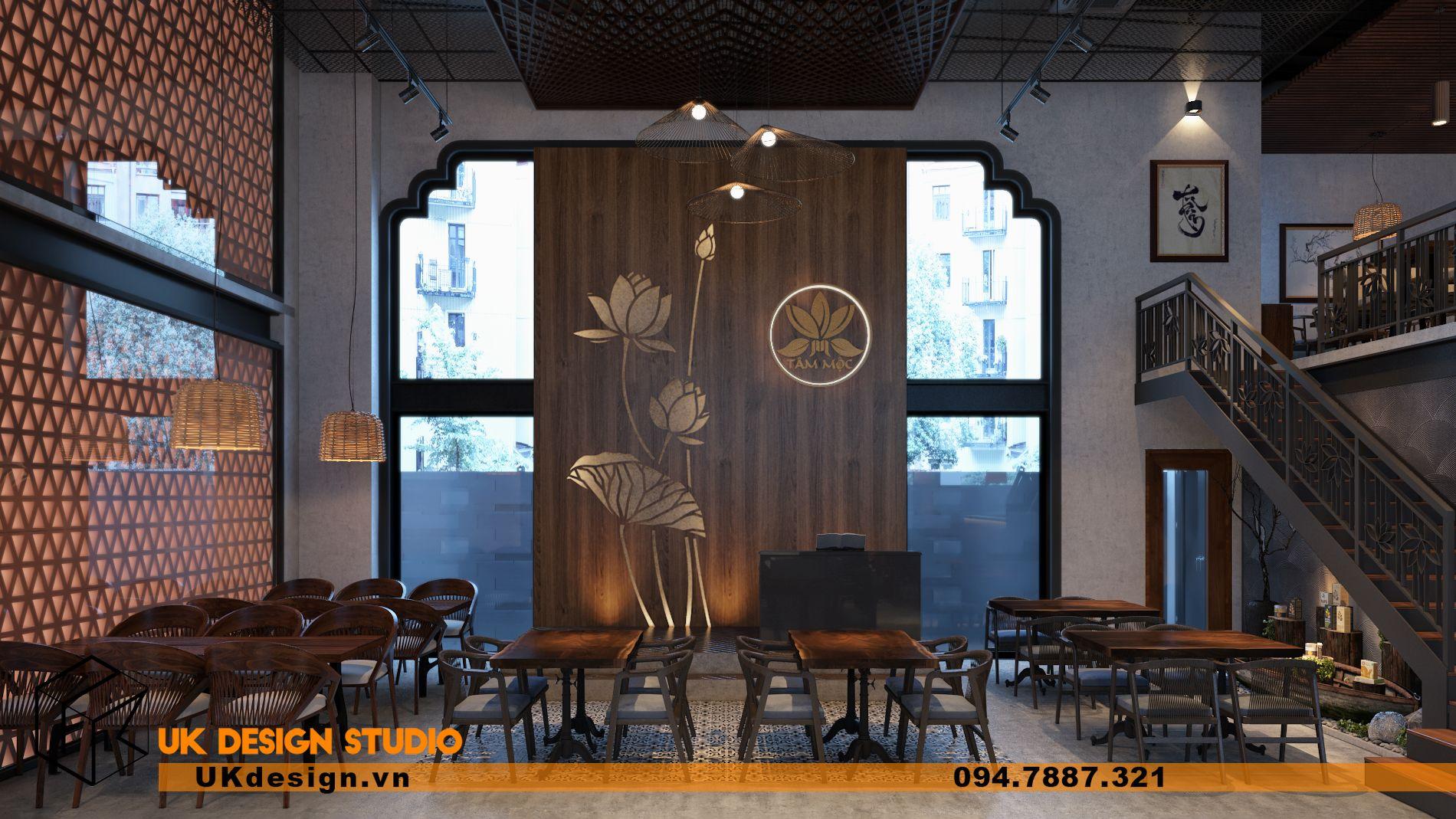 Thiết kế nhà hàng chay TÂM MỘC 12