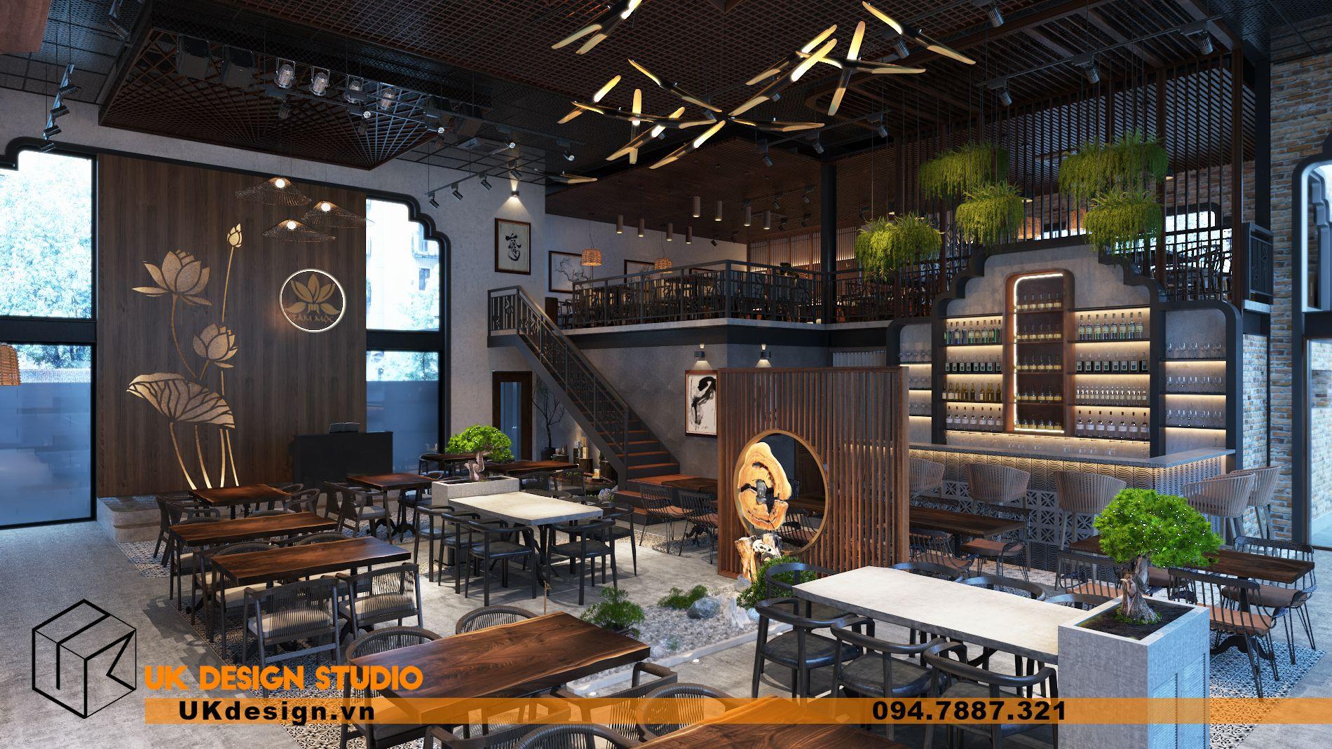 Thiết kế nội thất nhà hàng đẹp – Nhà hàng chay TÂM MỘC