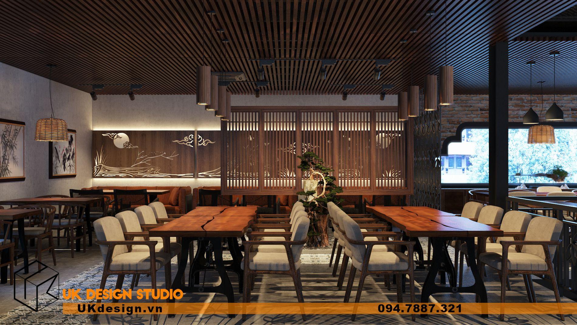 Thiết kế nhà hàng chay TÂM MỘC 17