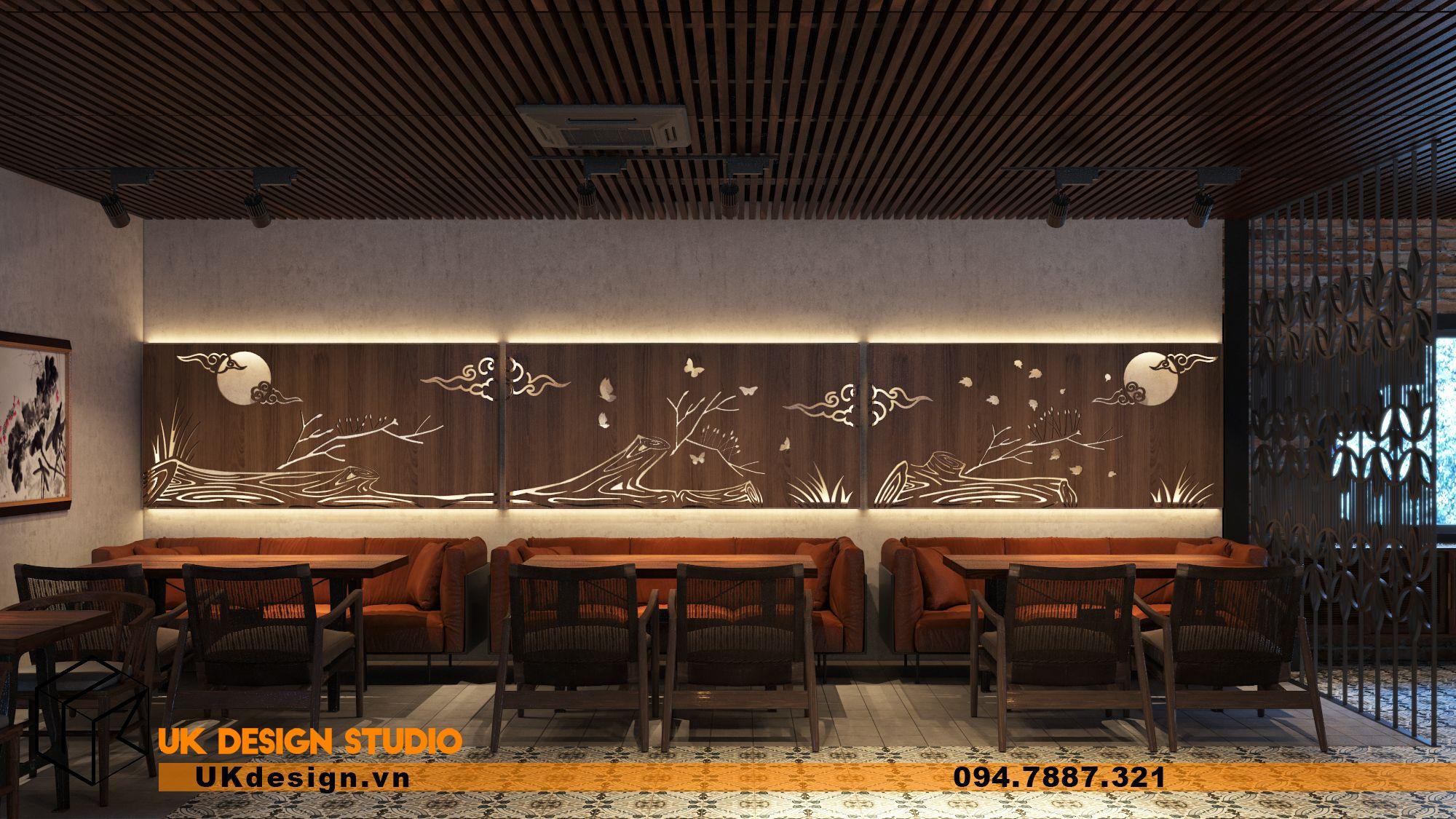 Thiết kế nhà hàng chay TÂM MỘC 18