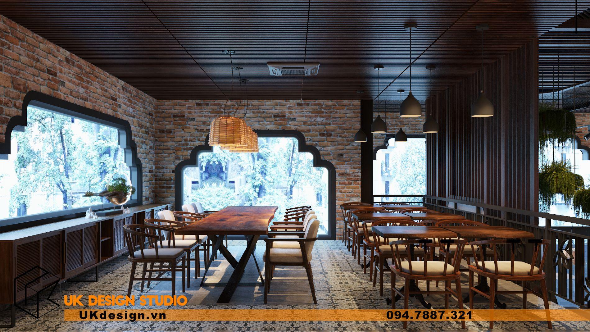 Thiết kế nhà hàng chay TÂM MỘC 21