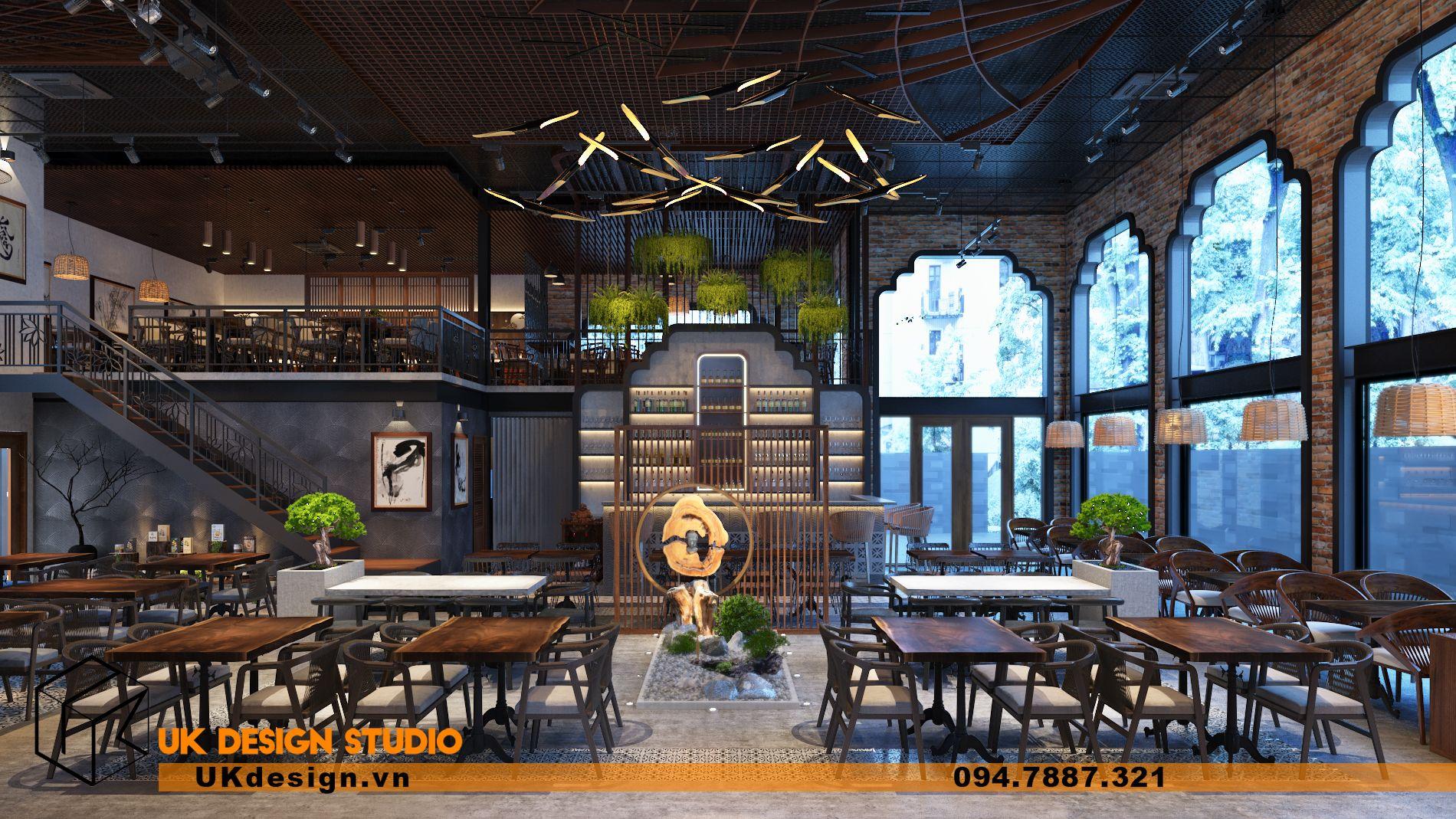Thiết kế nhà hàng chay TÂM MỘC 8