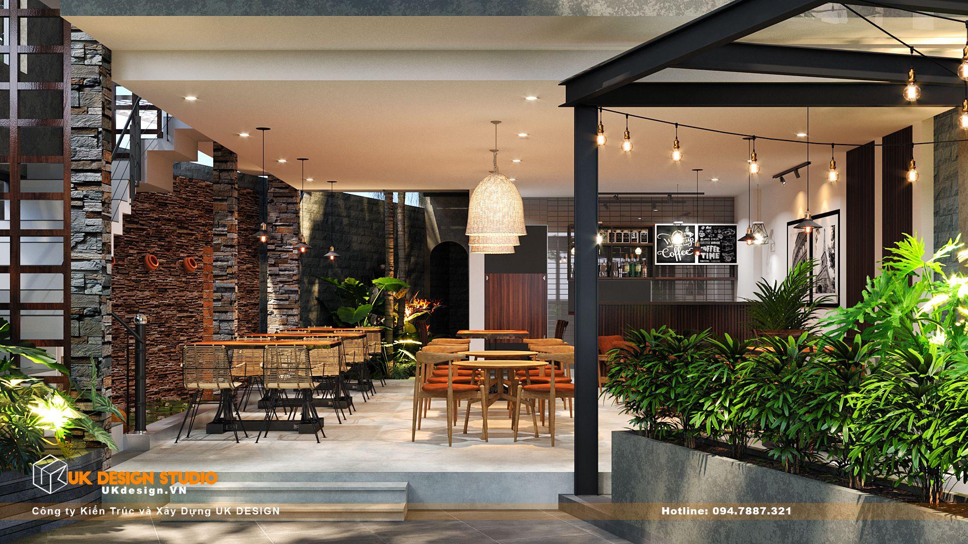 Thiết kế quán Cafe sân vườn, MỘC coffee 3