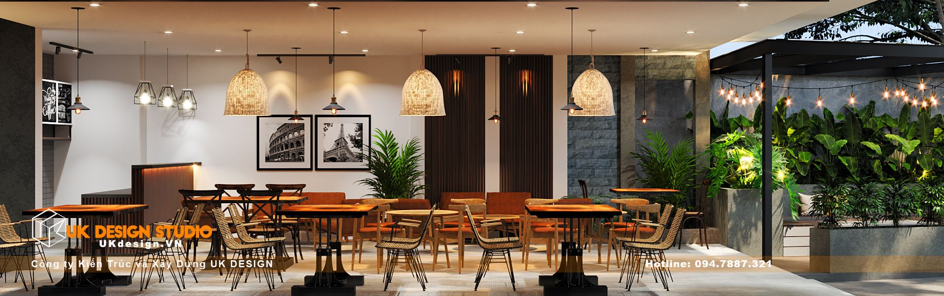 Thiết kế quán Cafe sân vườn, MỘC coffee 4