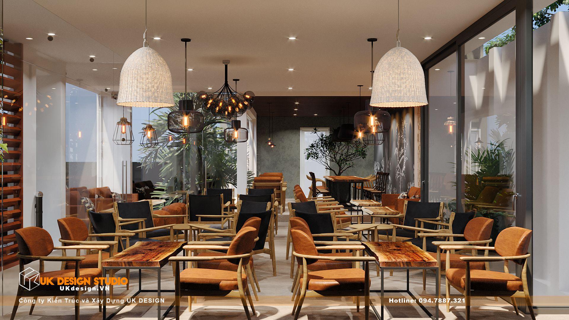 Thiết kế quán Cafe sân vườn, MỘC coffee 6