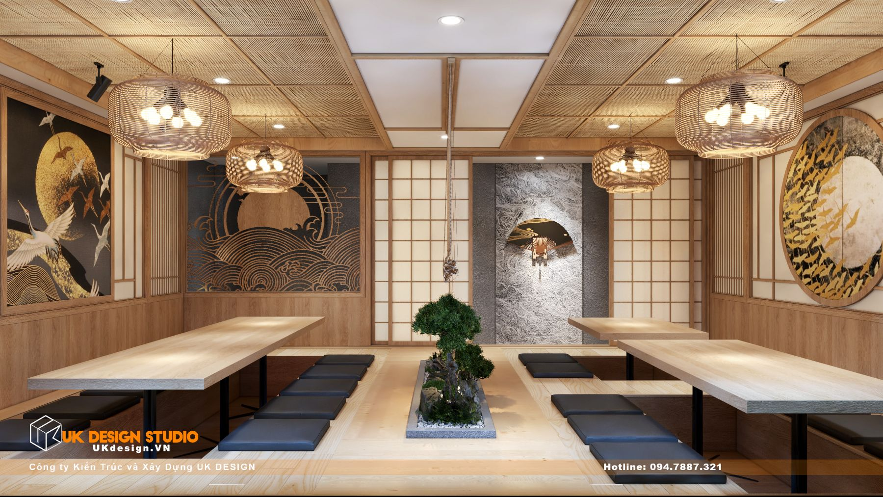 Thiết kế nhà hàng Kiểu Nhật KOBAYASHI 13