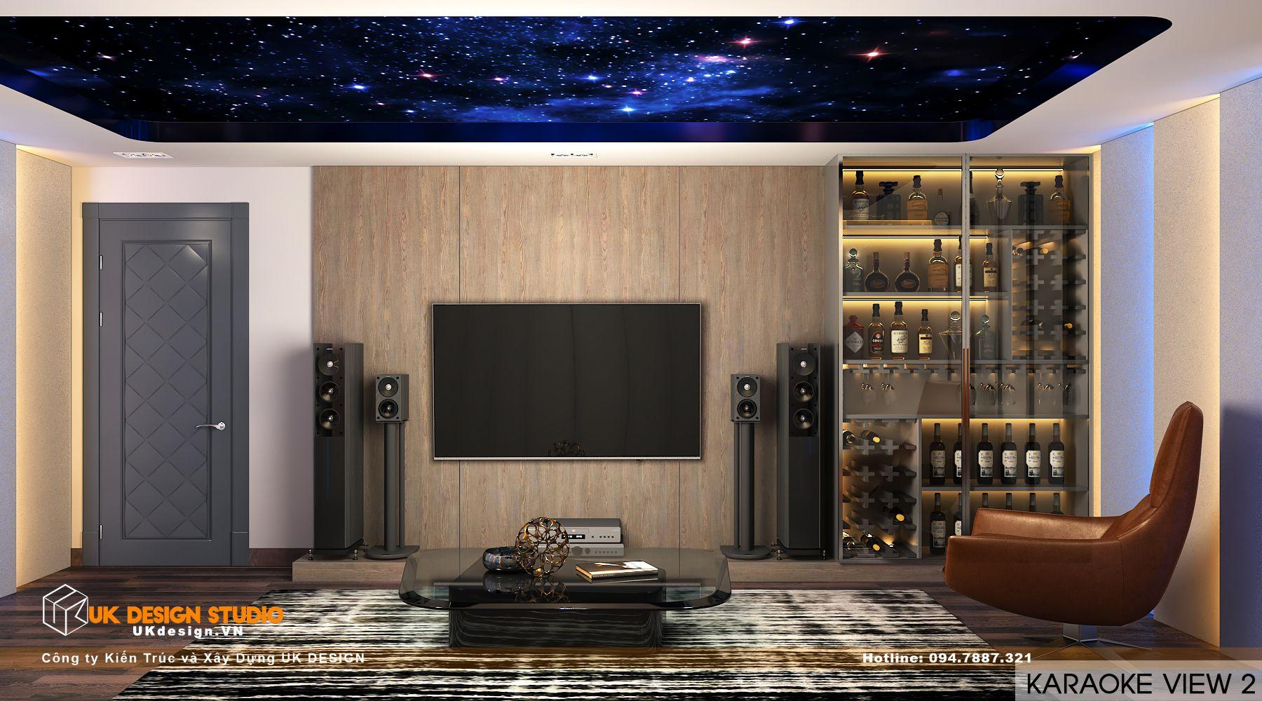 Thiết kế nội thất biệt thự nhà đẹp 3 tầng ở Quận 8 - Phòng karaoke 12