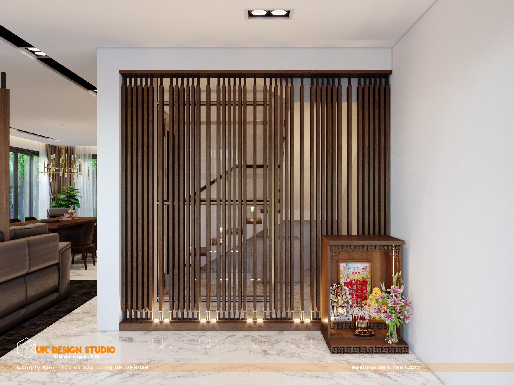 Thiết kế nội thất biệt thự nhà đẹp 3 tầng ở Quận 8 - Phòng Khách Bếp 18