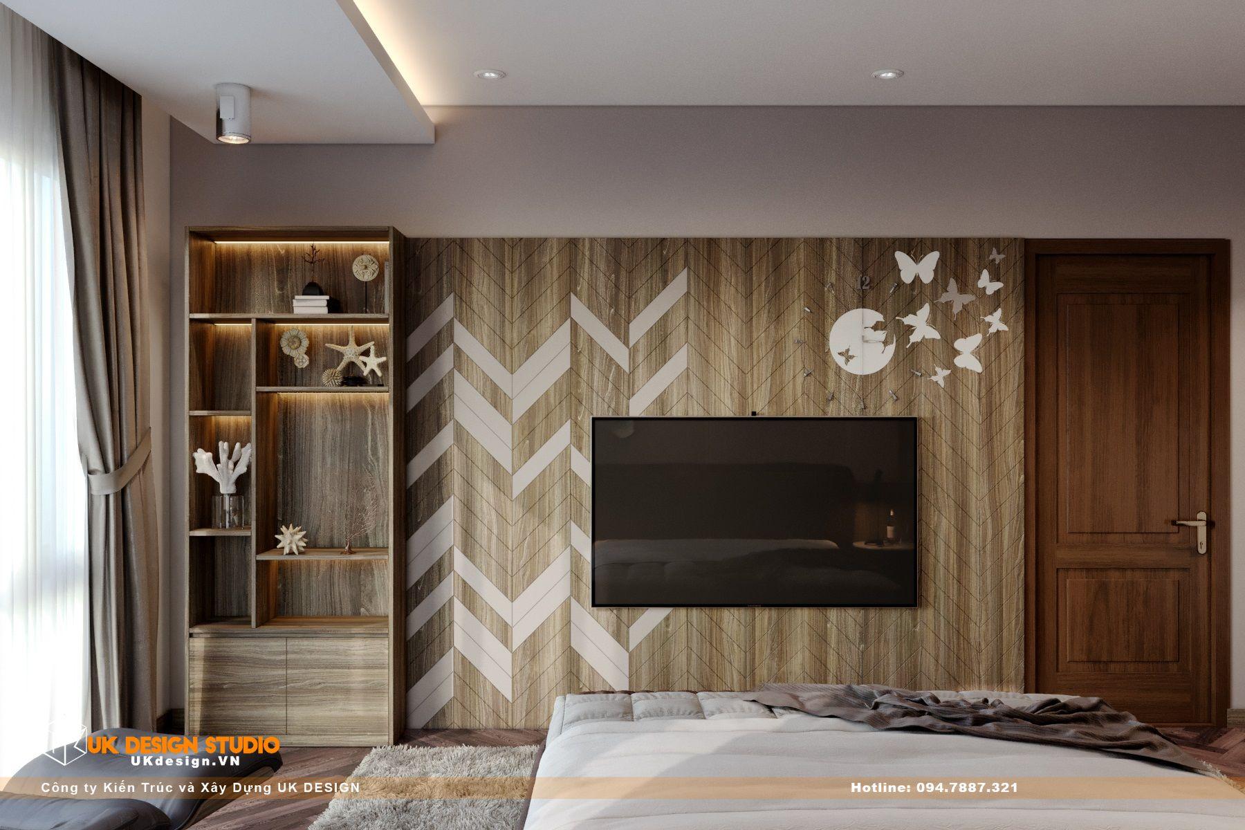 Thiết kế nội thất biệt thự nhà đẹp 3 tầng ở Quận 8 - Phòng ngủ master 13