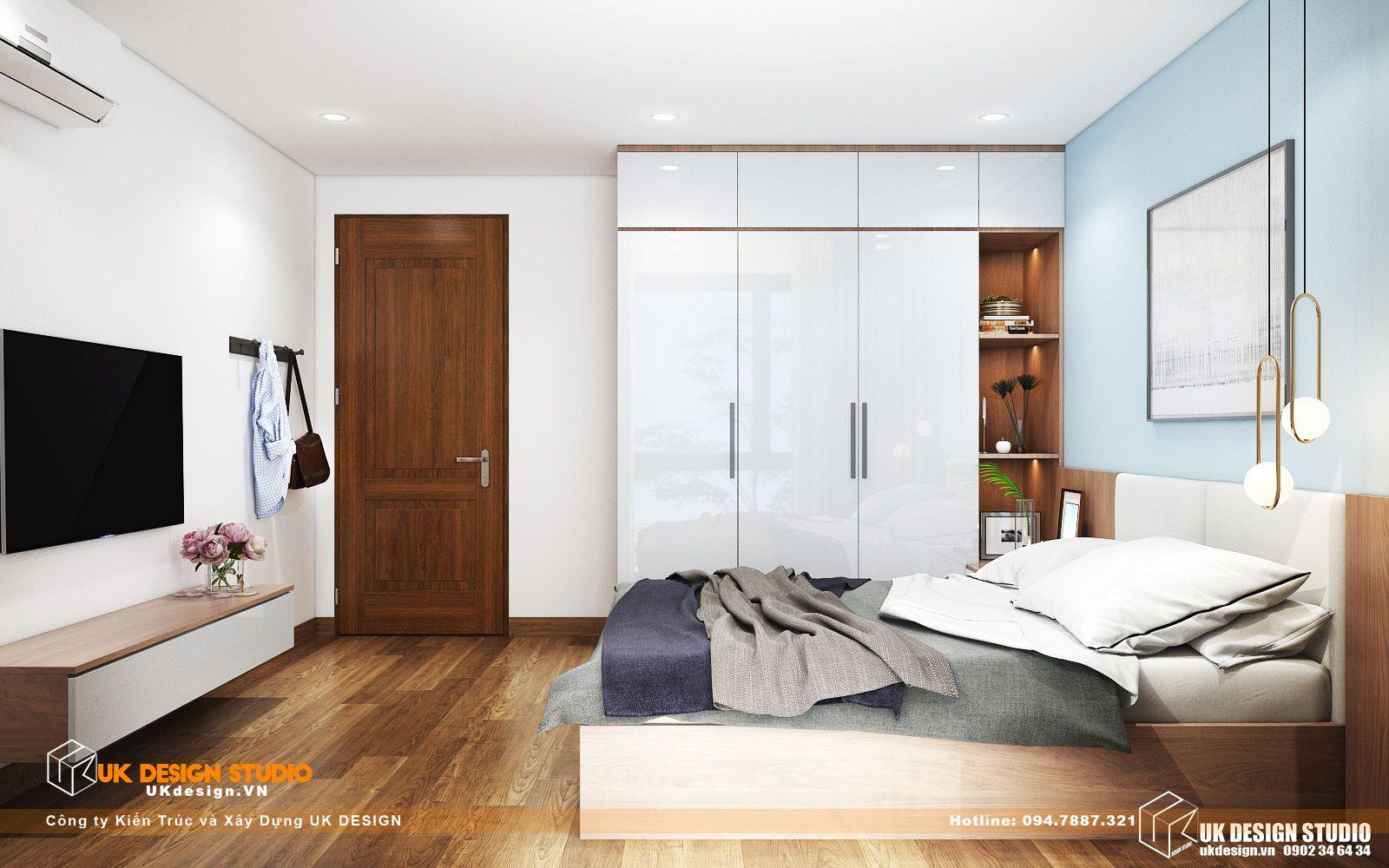Thiết kế nội thất biệt thự nhà đẹp 3 tầng ở Quận 8 - phòng ngủ khách 12