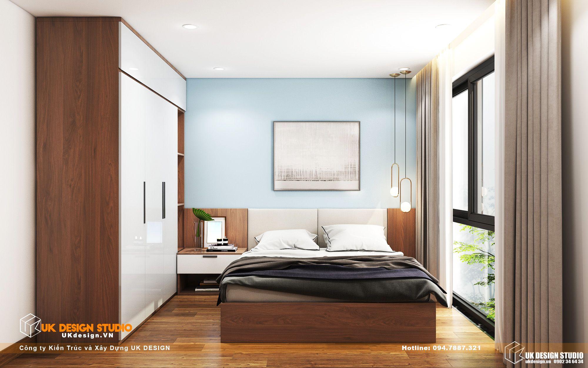Thiết kế nội thất biệt thự nhà đẹp 3 tầng ở Quận 8 - phòng ngủ khách 1