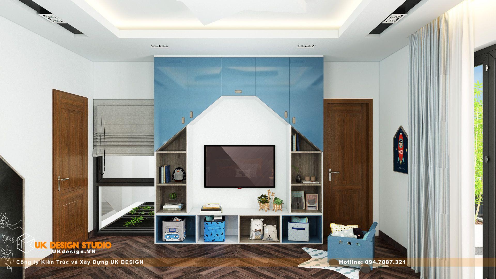 Thiết kế nội thất biệt thự nhà đẹp 3 tầng ở Quận 8 - Phòng ngủ con trai 14
